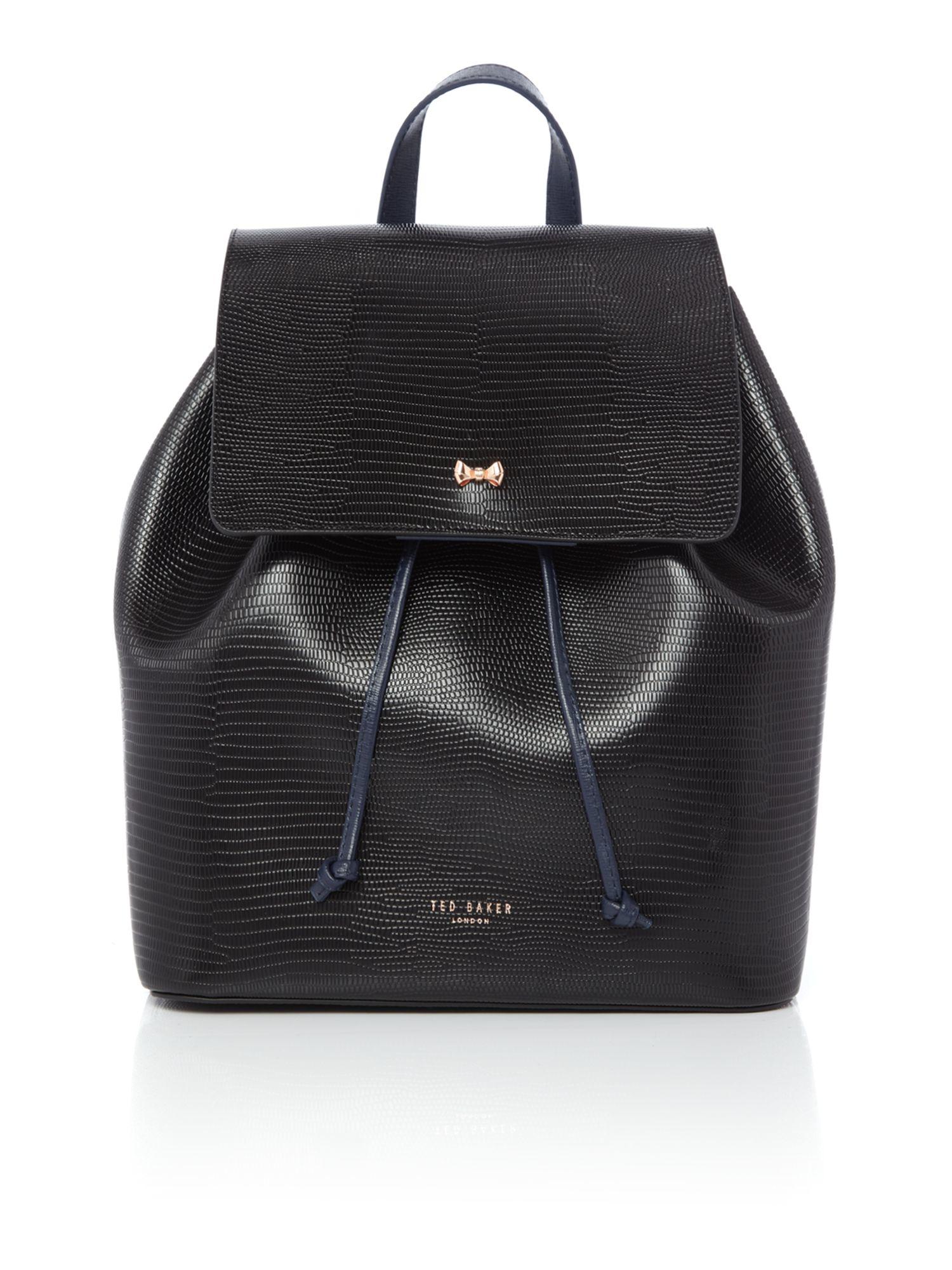 lyst ted baker inara black backpack in black. Black Bedroom Furniture Sets. Home Design Ideas
