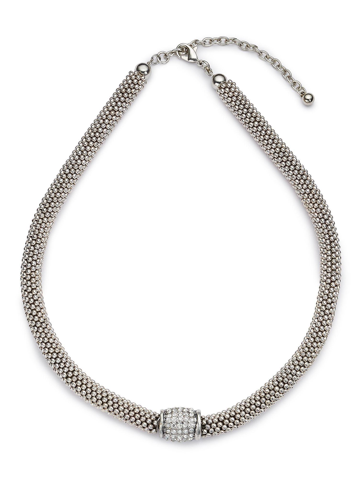 jacques vert diamante insert necklace in metallic lyst