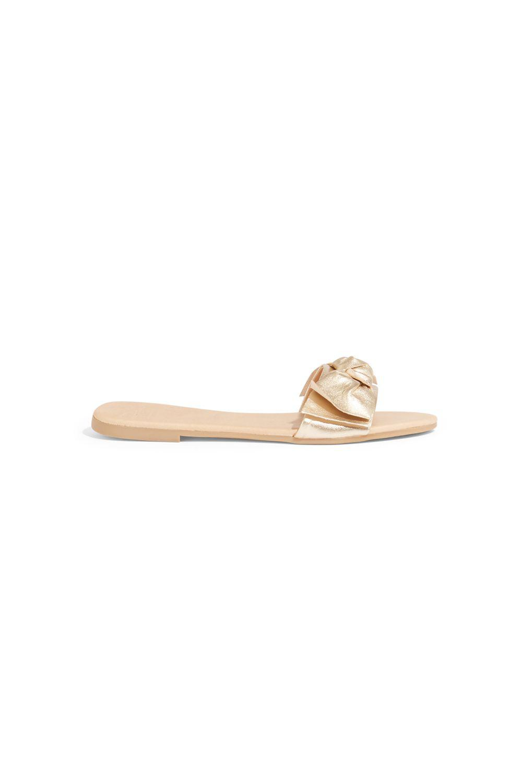 865947d80 Oasis Bow Sliders in Metallic - Lyst