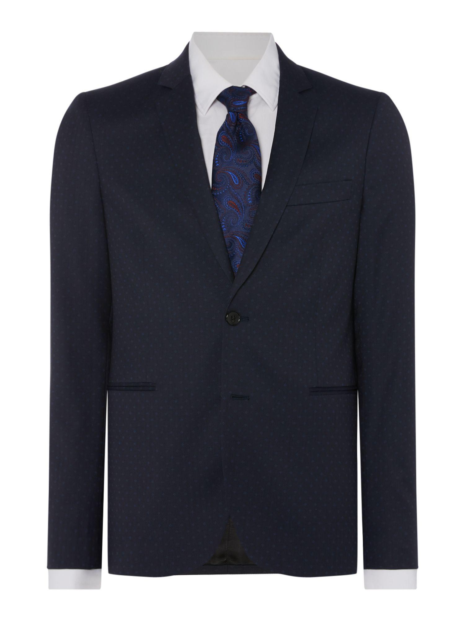 1d793c356c8 Ps By Paul Smith Men s Slim Fit Diamond Spot Suit Jacket in Blue for ...