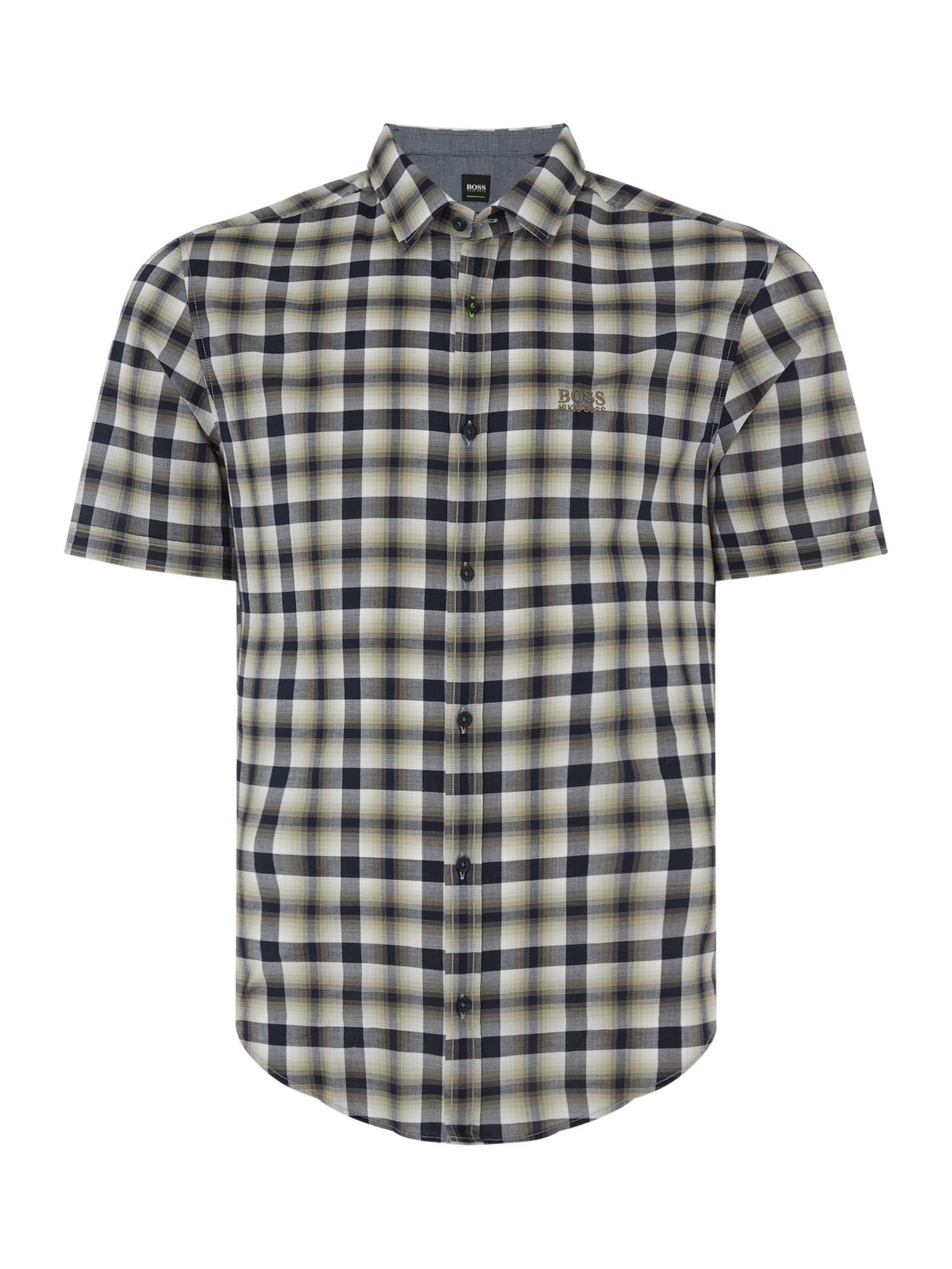 26b23e2d3 Lyst - Boss Men's Barn-r Short Sleeve Check Shirt for Men