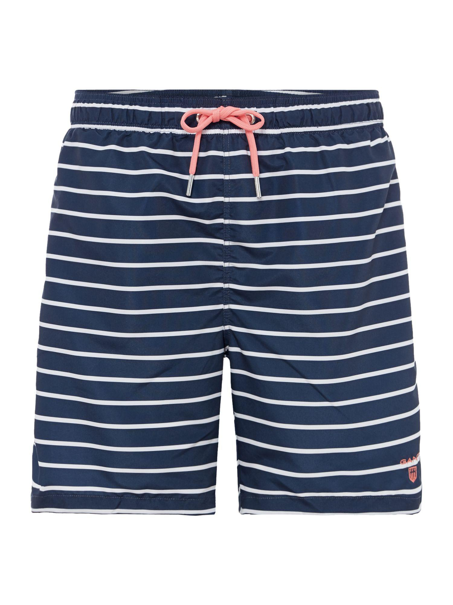 Breton Stripe Swim Shorts - Aster Blue GANT Authentic Cheap Online Cheap Sale From China Outlet Recommend aneEW