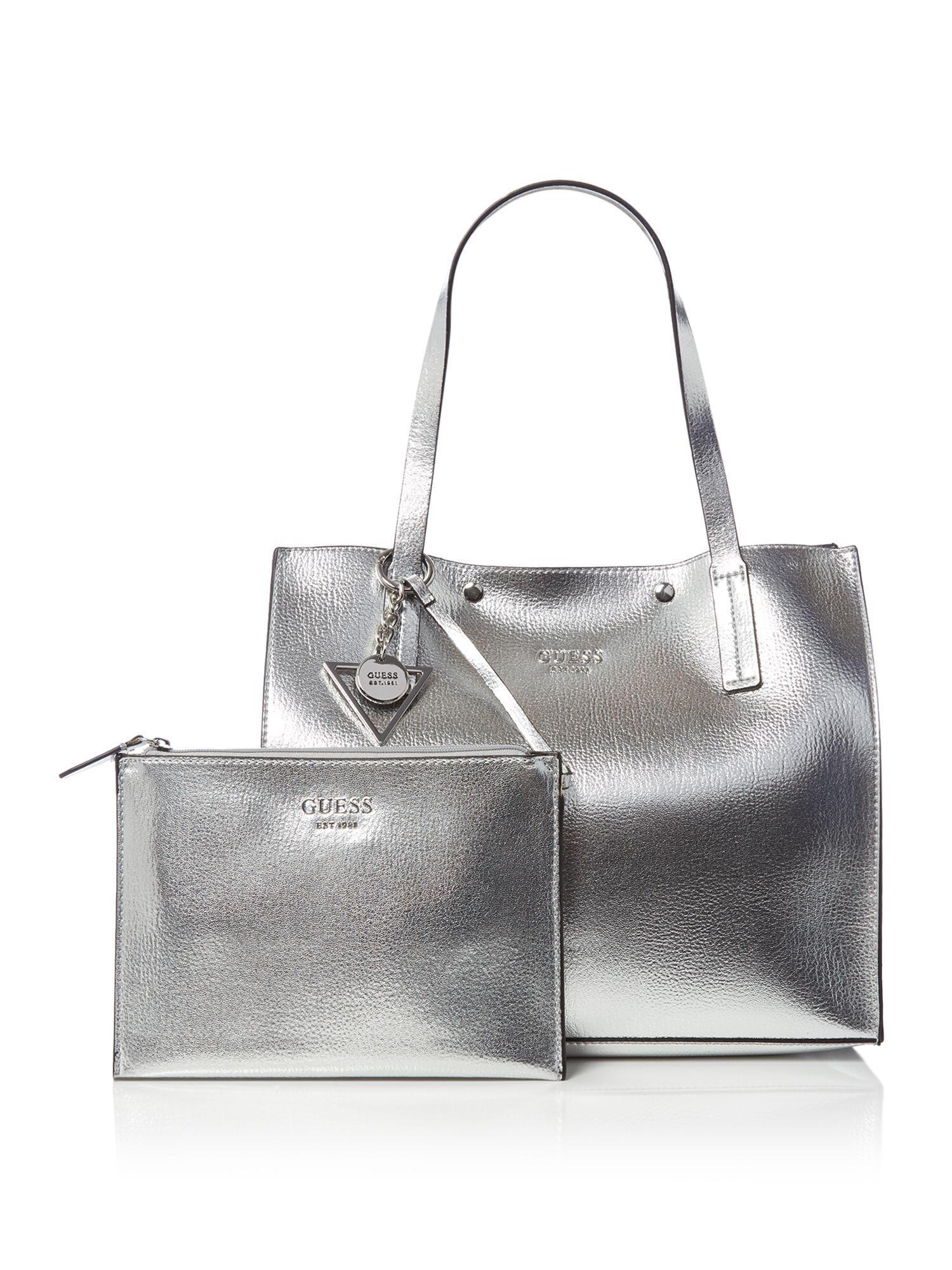 214ec070709e Guess Kinley Carryall Bag in Metallic - Lyst