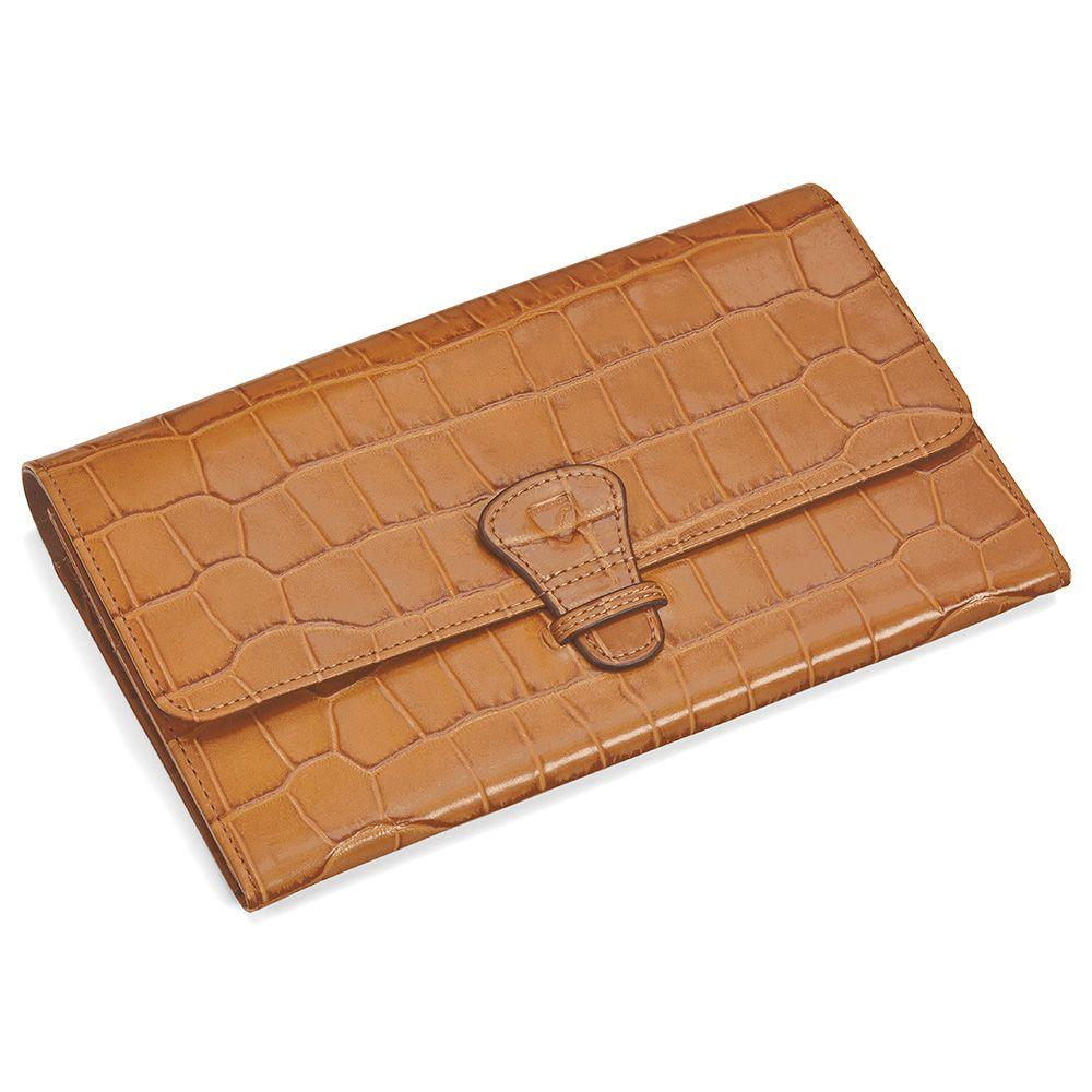 Aspinal classic travel wallet in brown lyst for Quality classic house of fraser