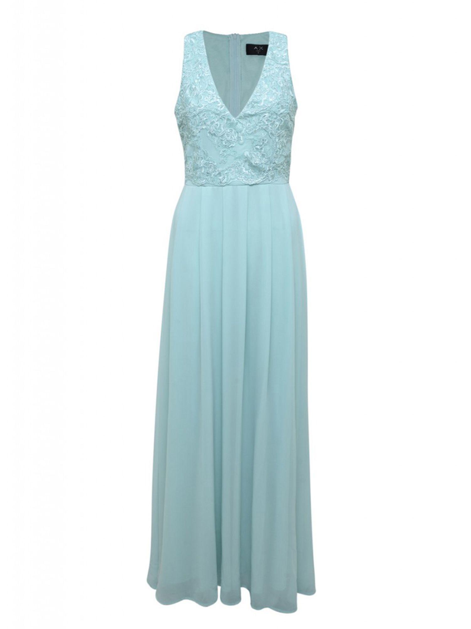 Ax paris Lace Top Maxi Dress in Blue   Lyst
