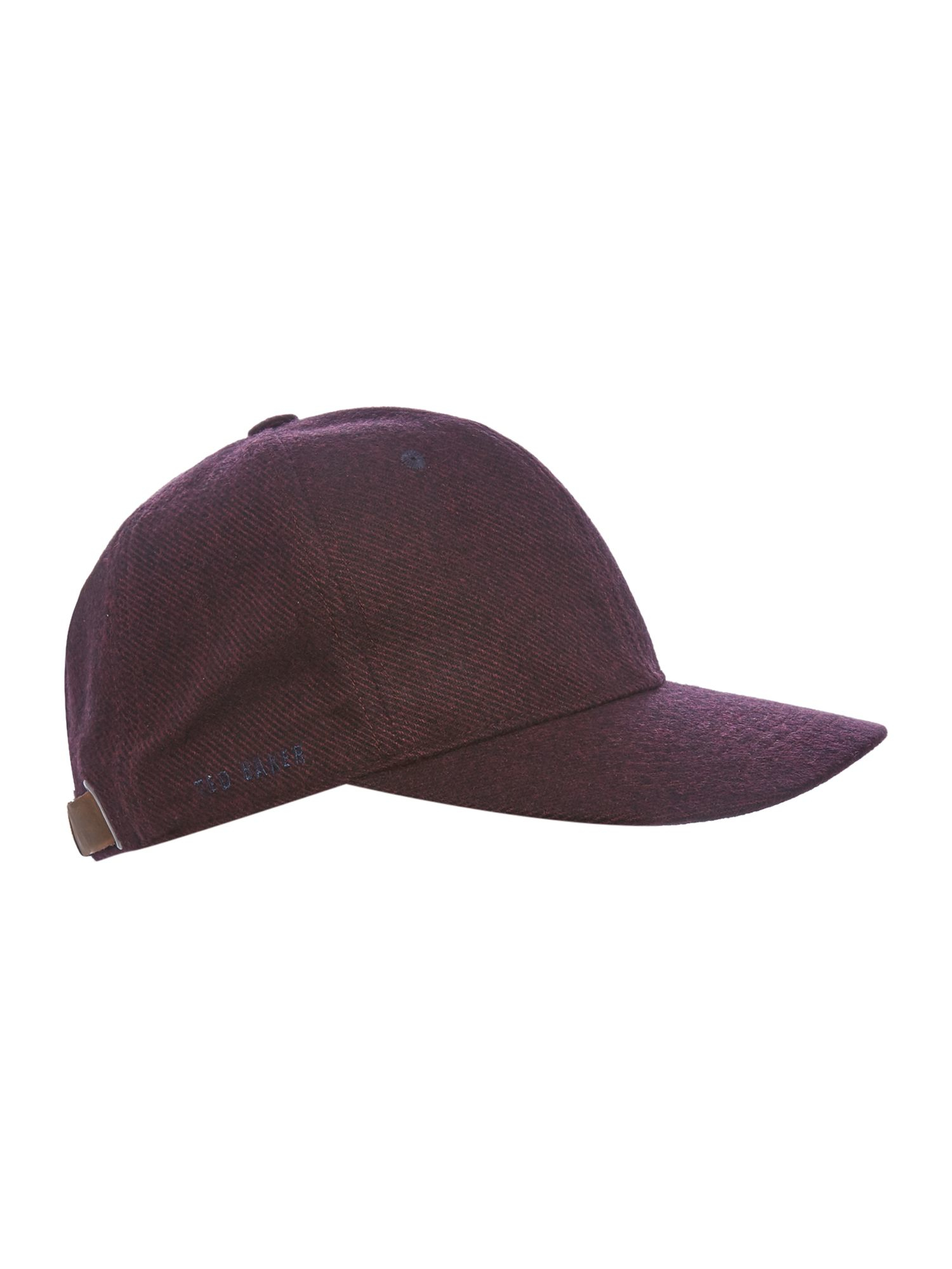 Lyst Ted Baker Geezer Wool Baseball Cap In Red For Men