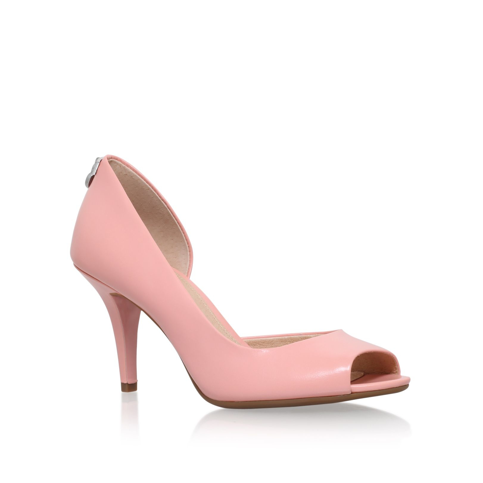 michael kors hamilton open toe court shoes in pink lyst