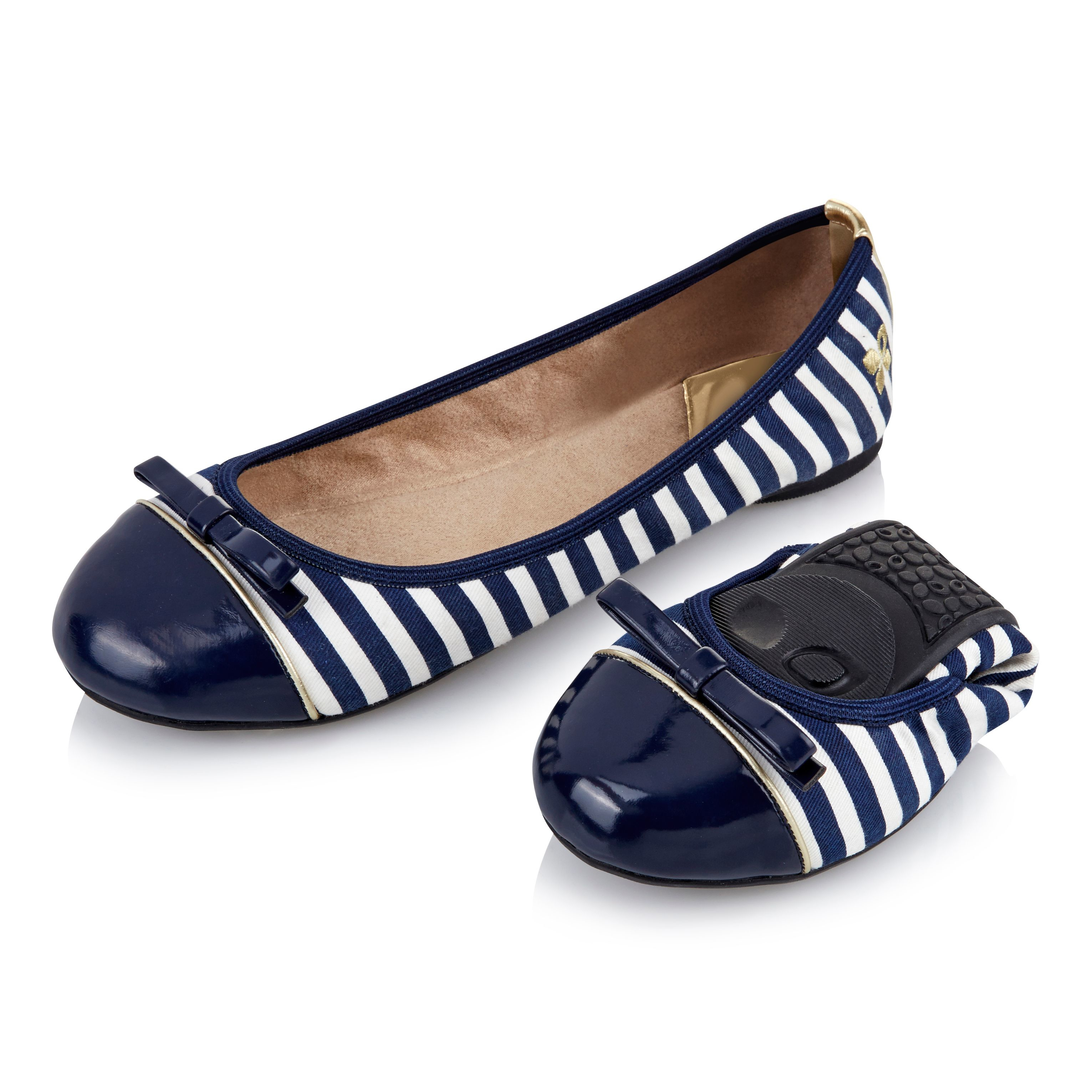 butterfly twists ballerina shoe in blue lyst. Black Bedroom Furniture Sets. Home Design Ideas