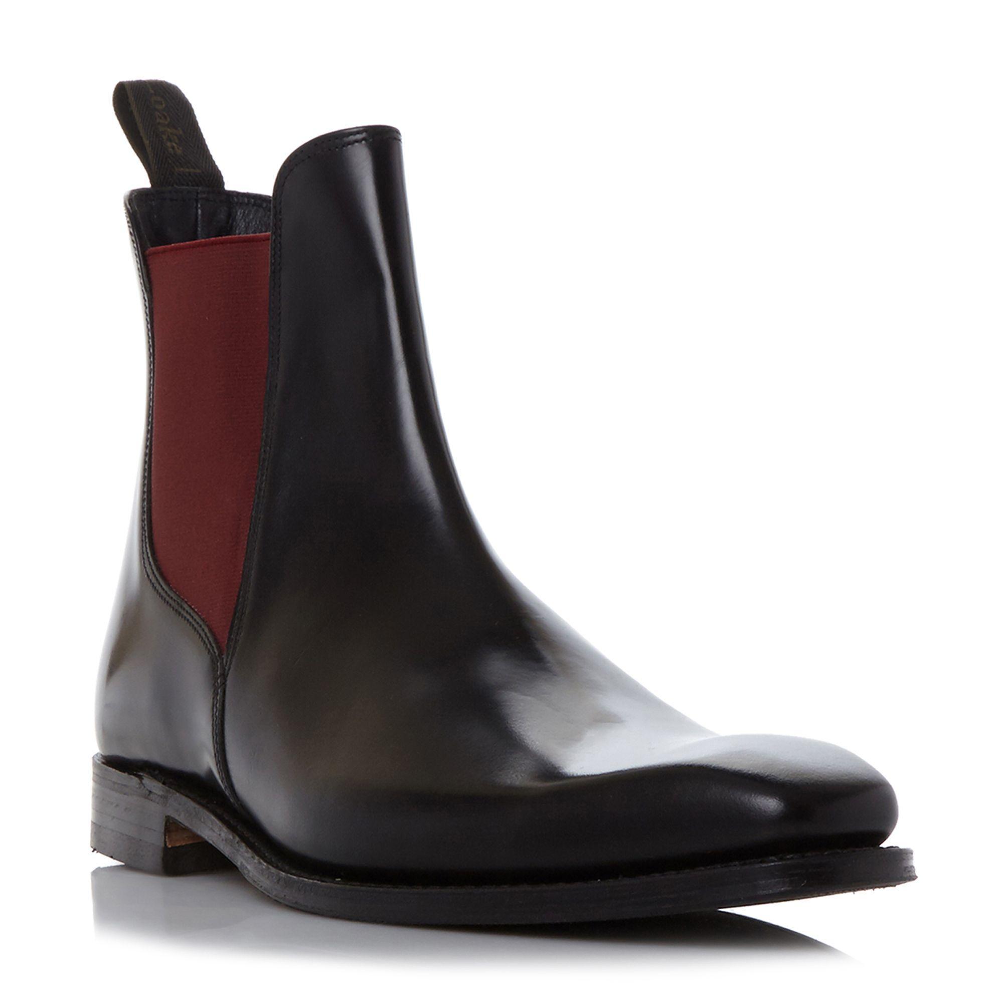 Lyst Loake Ferrers Gusset Chelsea Boots In Black