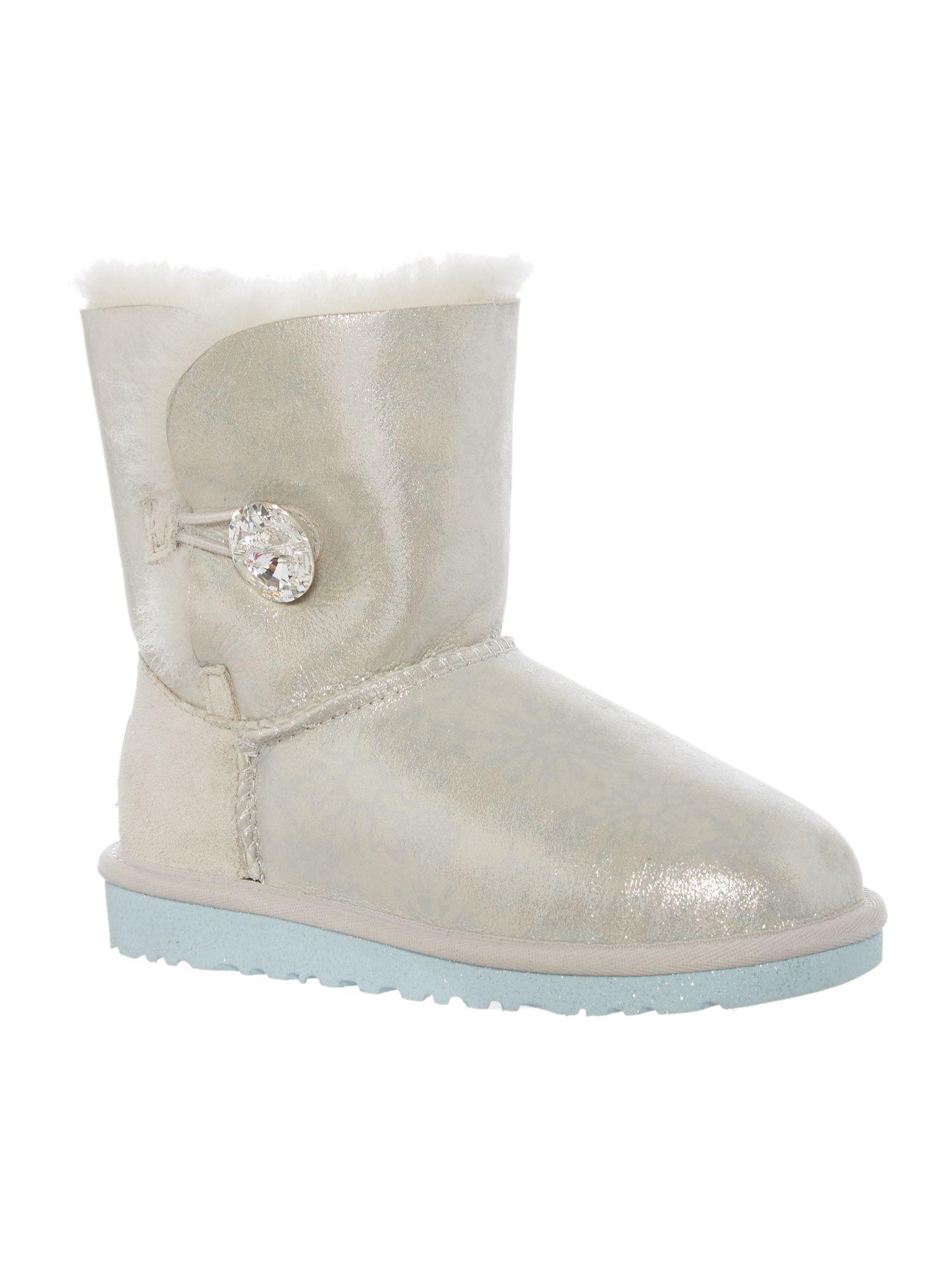 UGG. Women's White Girls Frozen Disney Boots