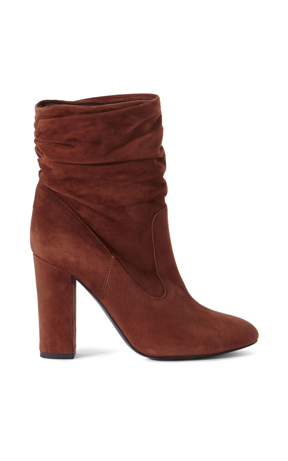 millen slouchy suede boots in brown lyst