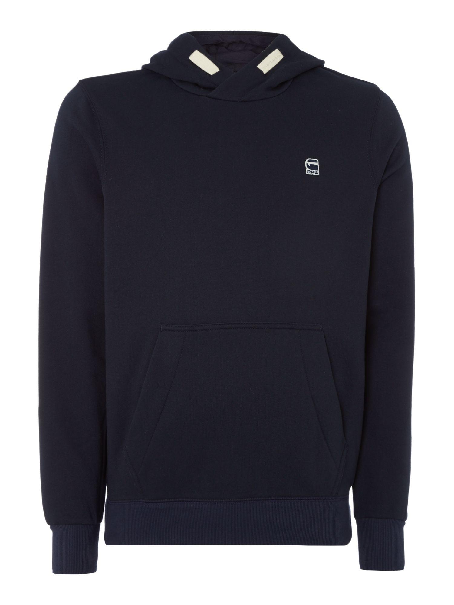 g star raw core hooded sweatshirt in blue for men lyst. Black Bedroom Furniture Sets. Home Design Ideas