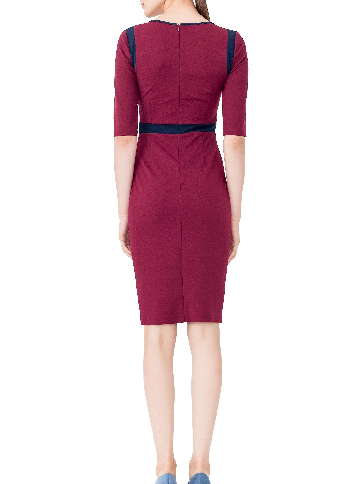 Lyst maiocci collection bodycon back zip dress in red for Housse zip collection captur