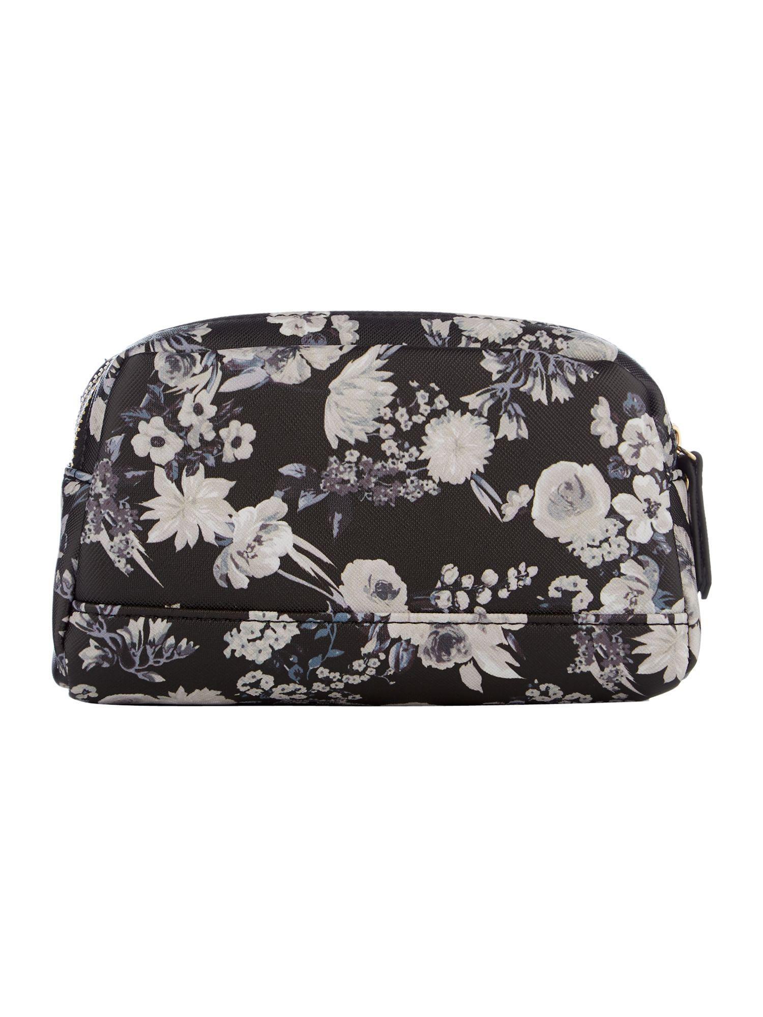 Lyst - Guess Isabeau Floral Double Zip Cos Bag