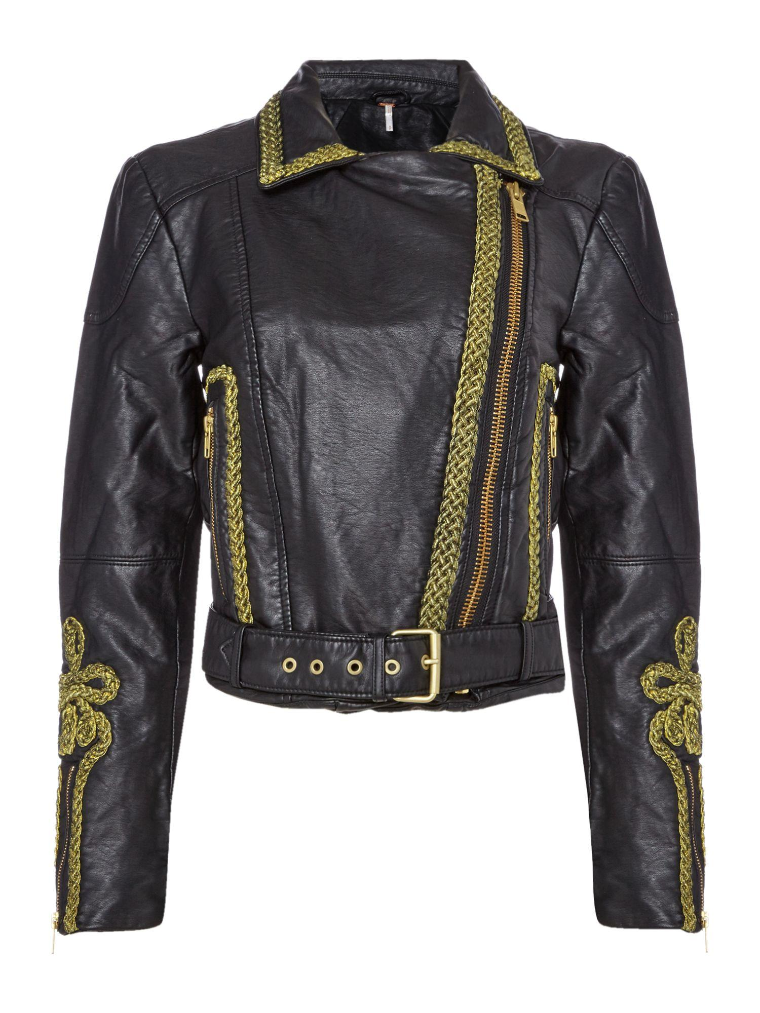 852a9e954c566 Free people Bang Bang Vegan Leather Jacket In Black in Black