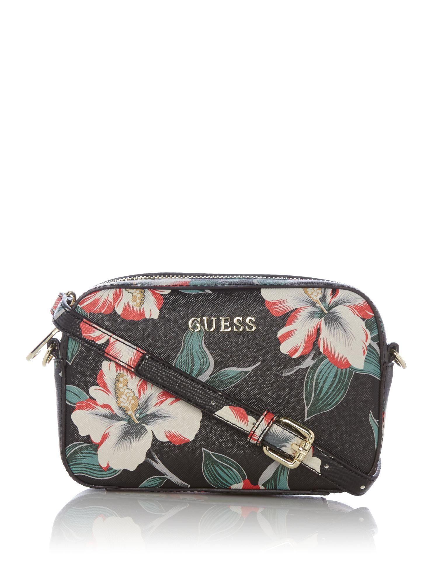 Lyst - Guess Isabeau Floral Cross Body Bag