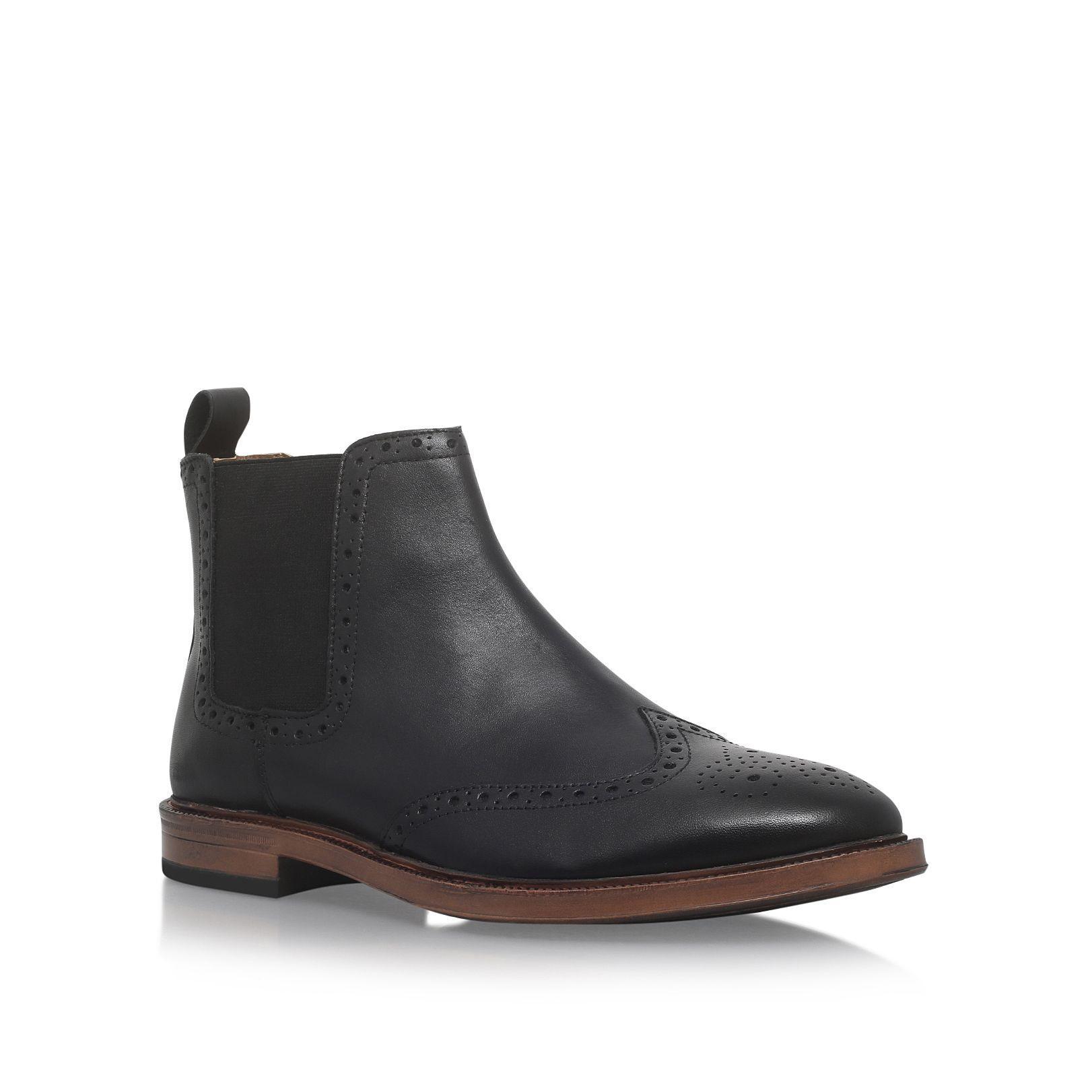 kg by kurt geiger huddersfield flat chelsea boots in black