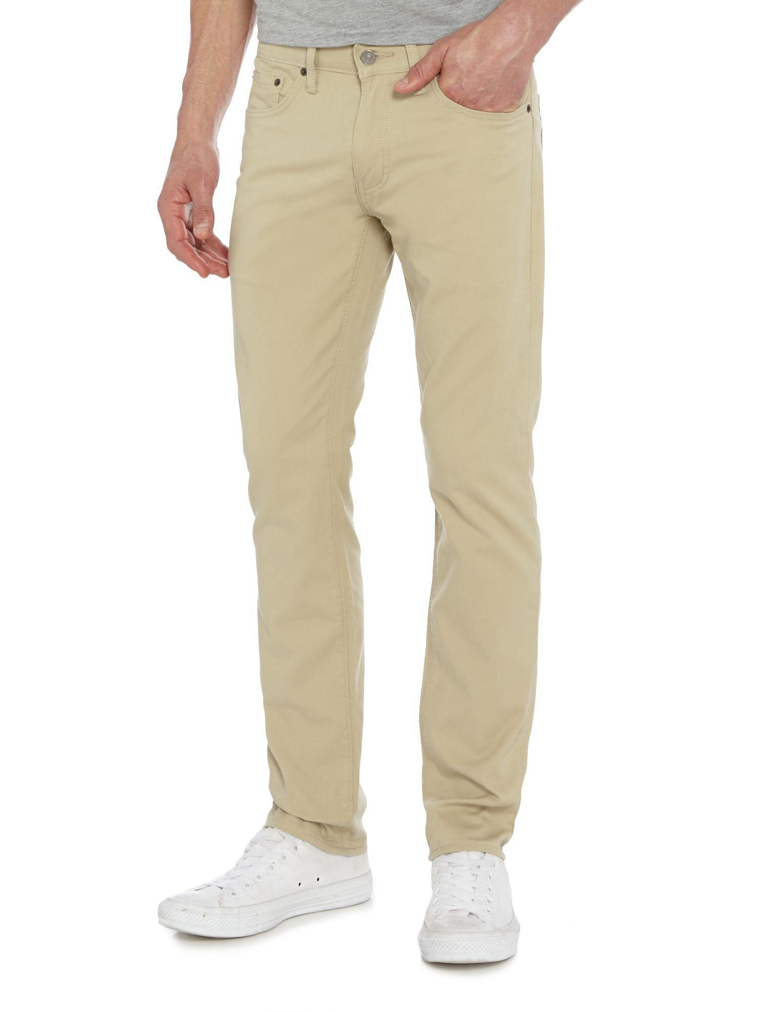 Lyst Levi S 511 Slim Fit Beige Jeans In Natural For Men