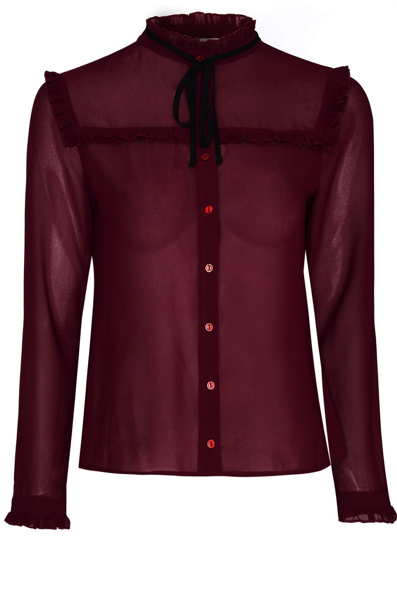 Glamorous Victorian Blouse In Red Lyst