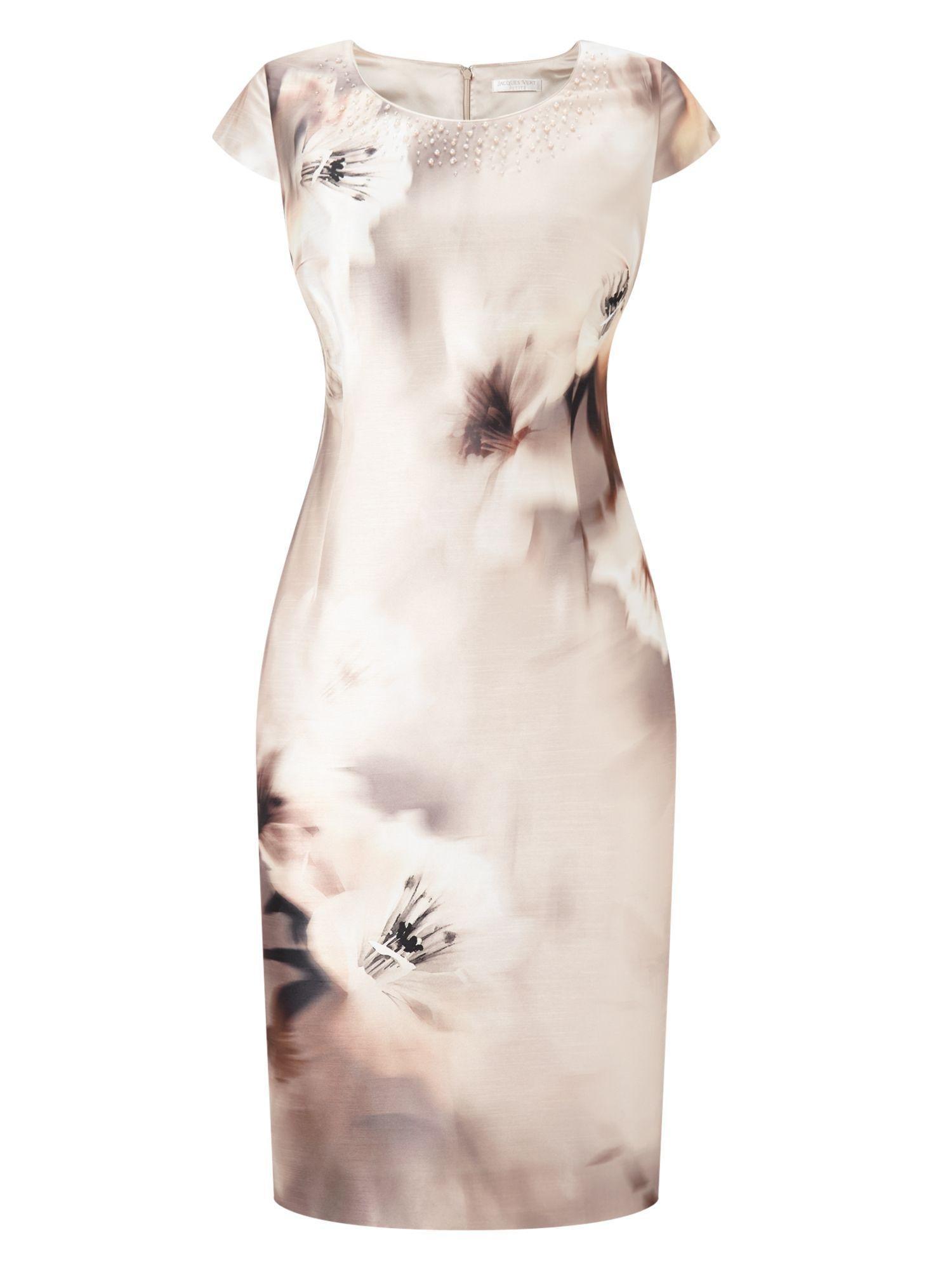 Womens Petite Printed Santung Dress Jacques Vert eVZDU