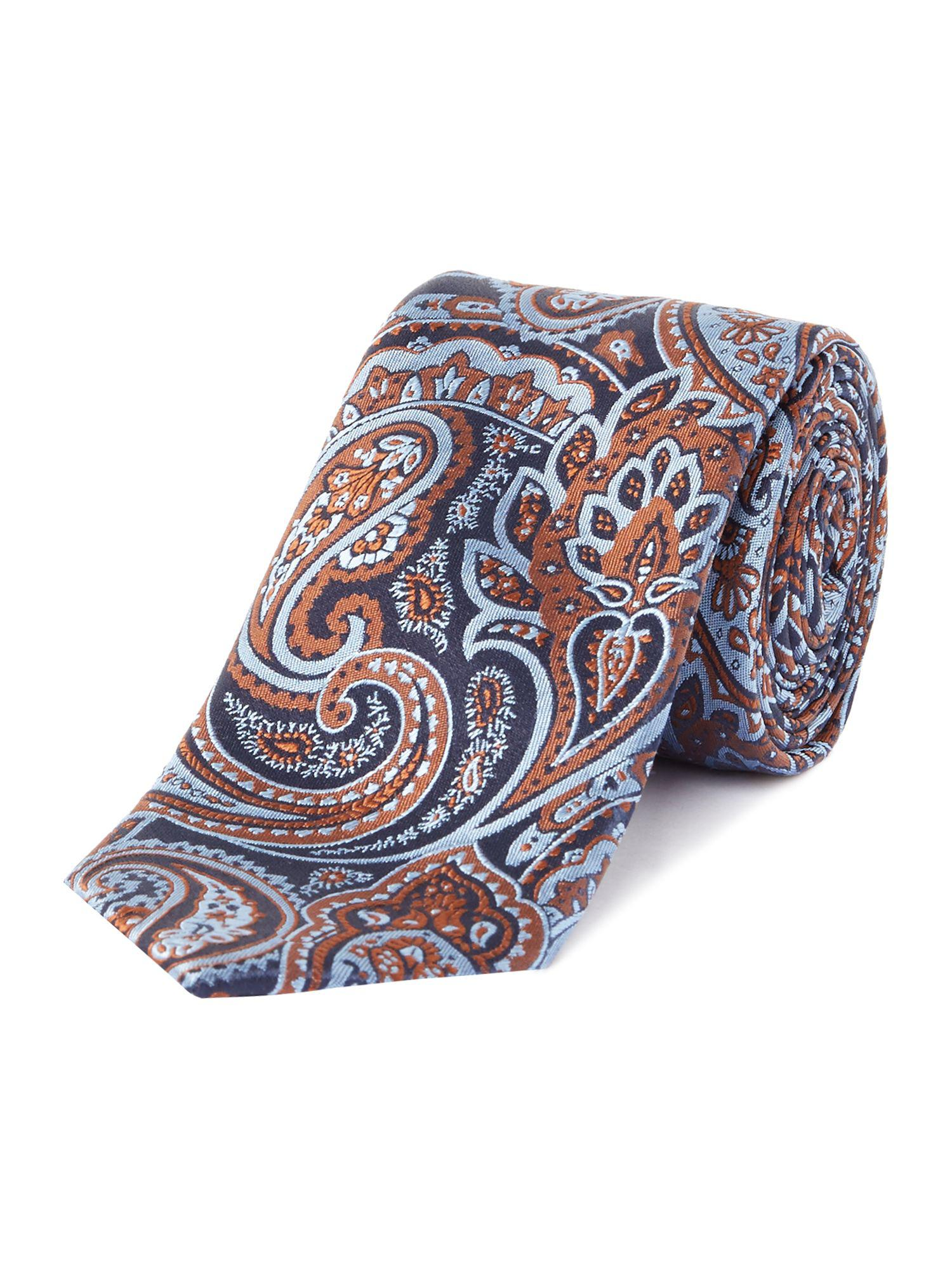 e0a5f143455a61 Ted Baker Samford Paisley Print in Blue for Men - Lyst