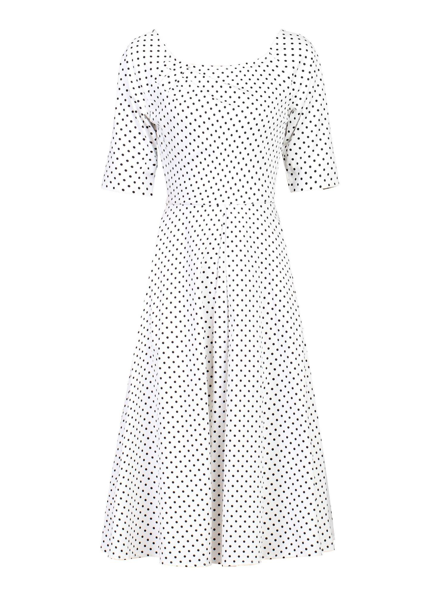 068f1b28ab3 Jolie Moi Half Sleeve Swing Dress in White - Lyst