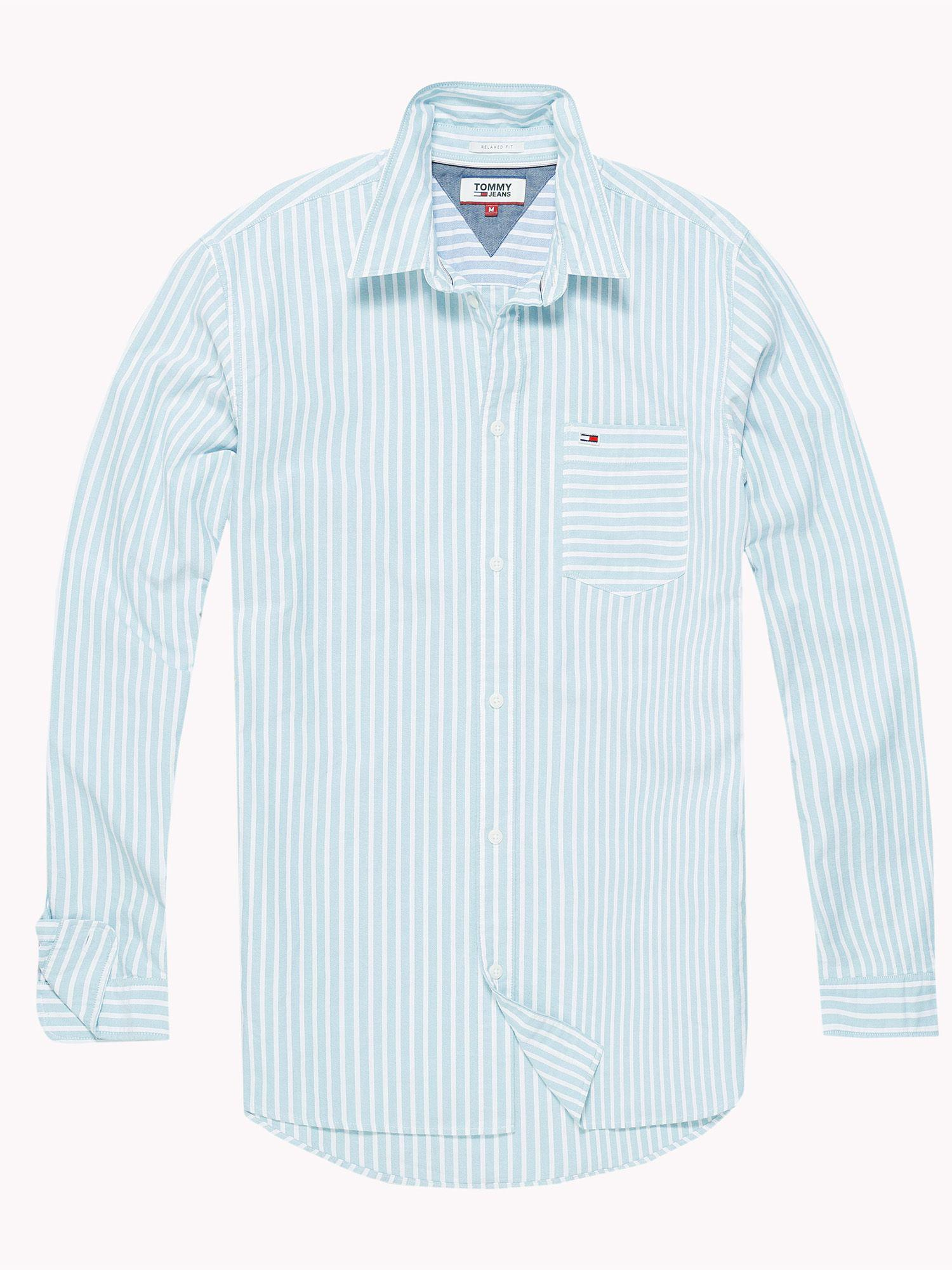 88905d44547a Tommy Hilfiger Men s Tommy Jeans Classic Stripe Shirt in Blue for ...