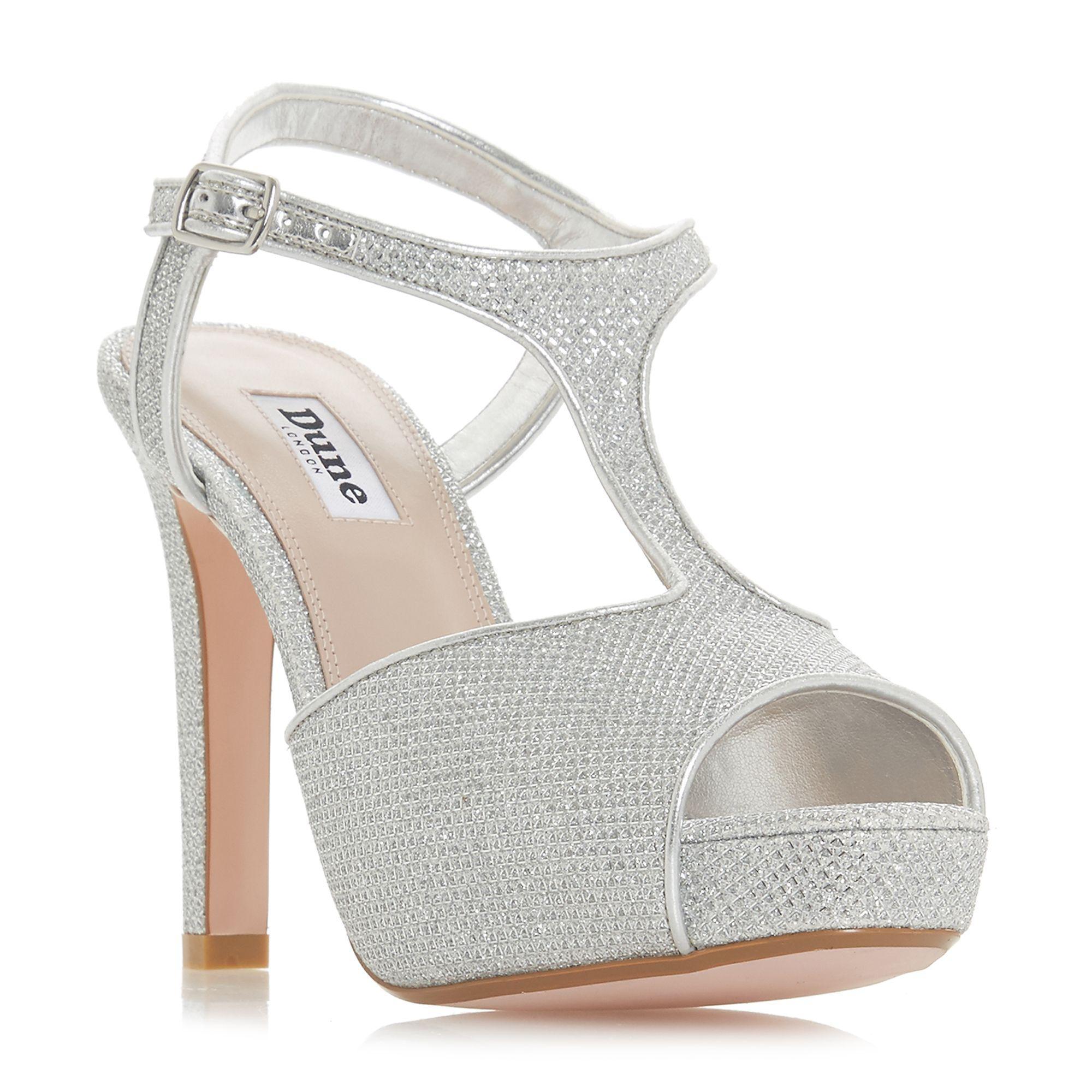 ddceeb25eabb7 Dune - Metallic Marleigh T Bar High Heel Sandals - Lyst. View fullscreen