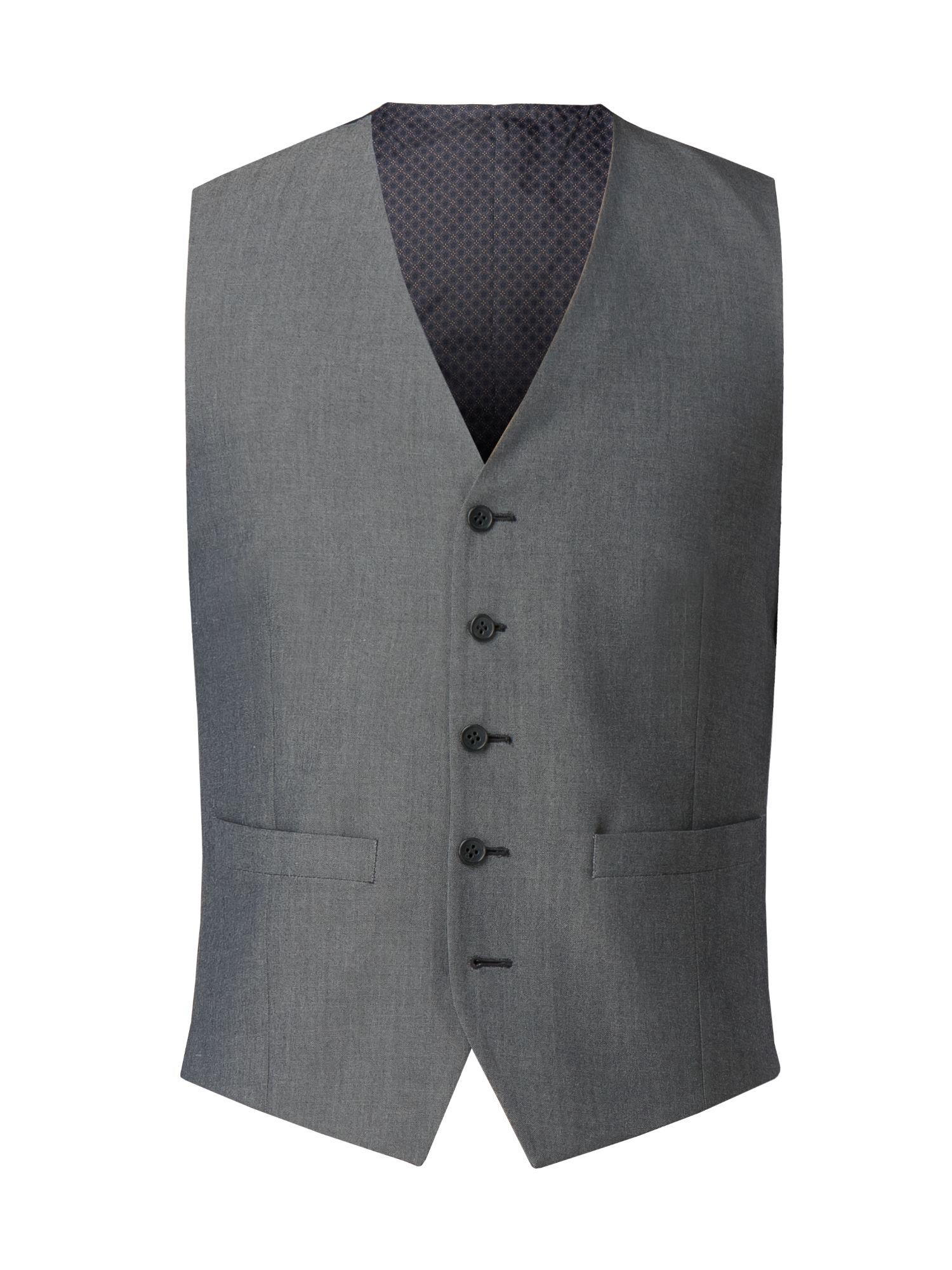 6c02a989f Limehaus Men's Harry Plain Silver Grey Tonic Waistcoat in Gray for ...