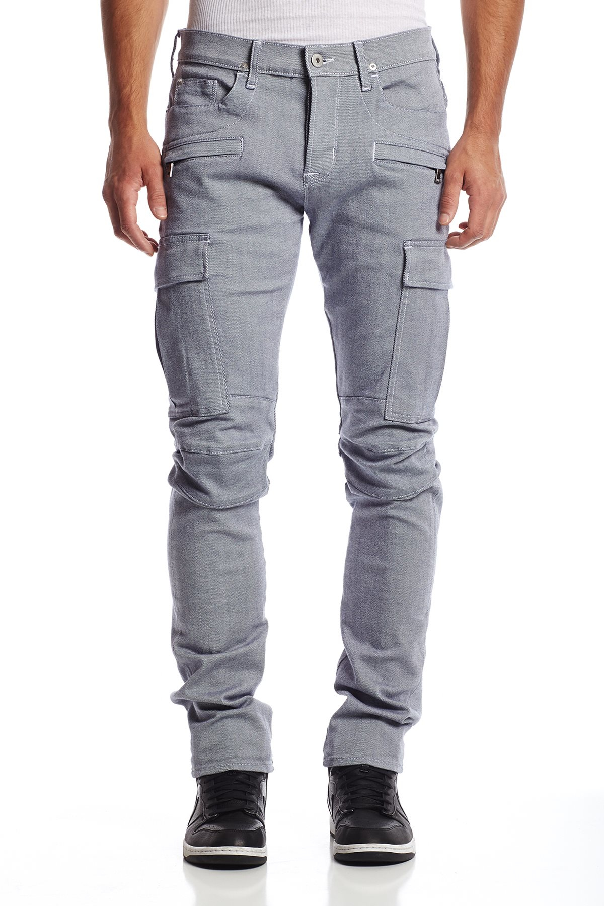 Lyst Hudson Jeans Greyson Cargo Biker In Blue For Men
