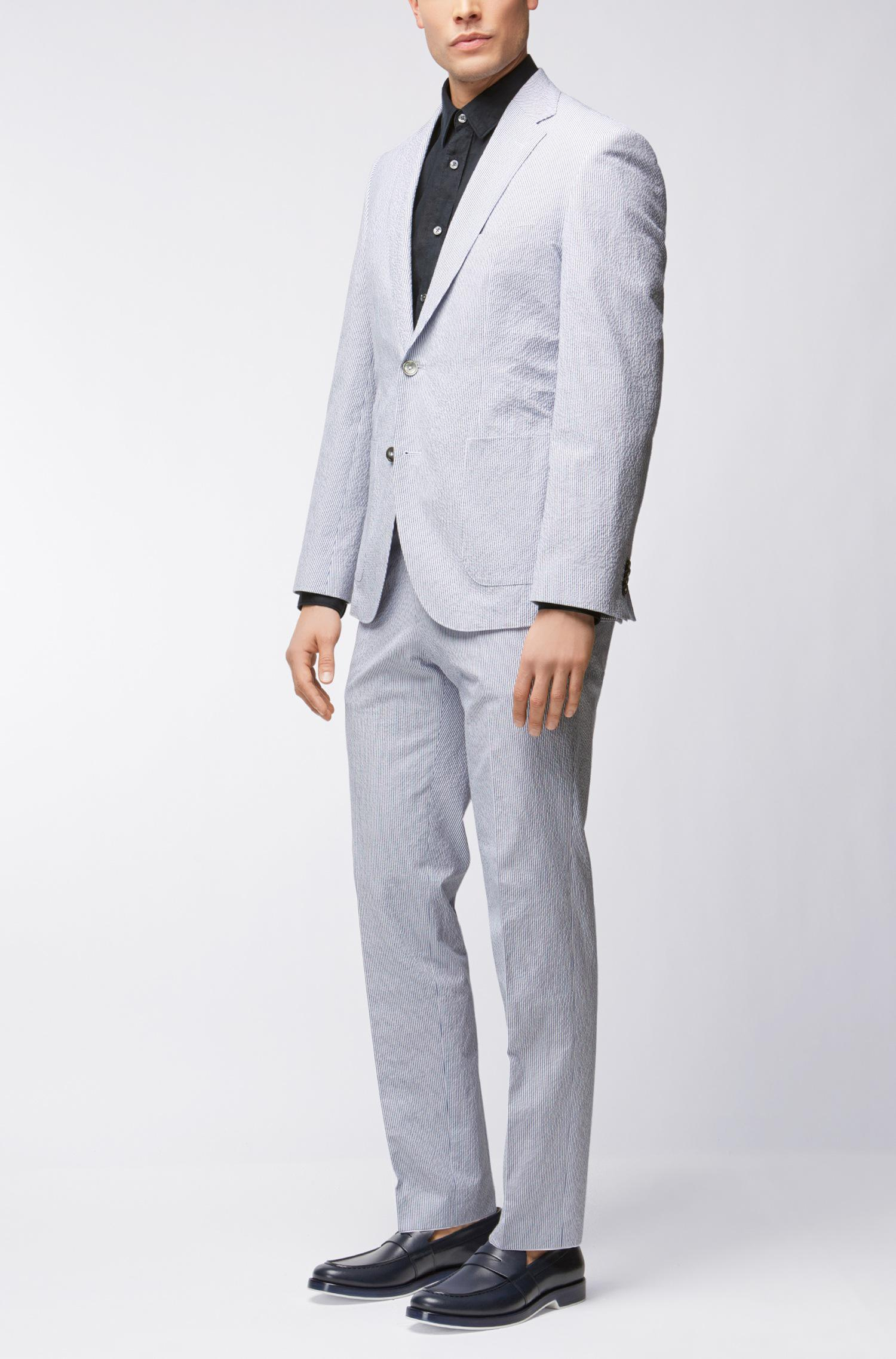 ba212881f02 BOSS Stretch Seersucker Suit, Regular Fit | Janon/lenon in Blue for ...
