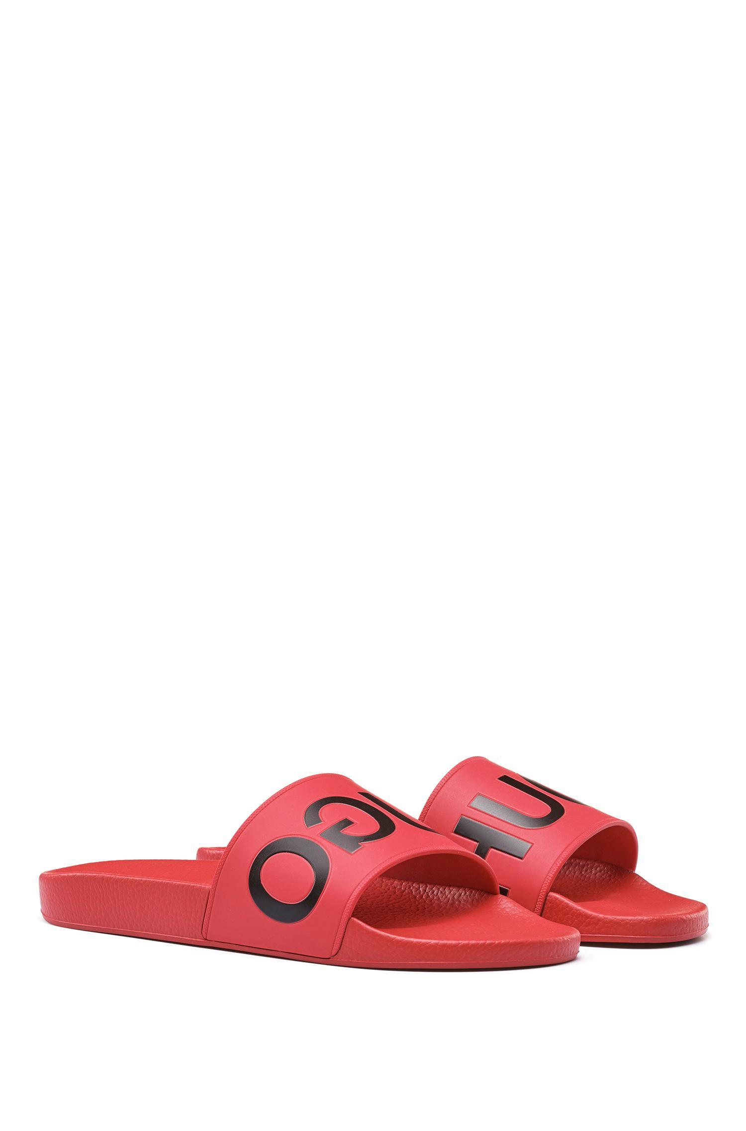 9b6f37640a04 Lyst - HUGO Reverse Logo Sliders In Red in Red for Men