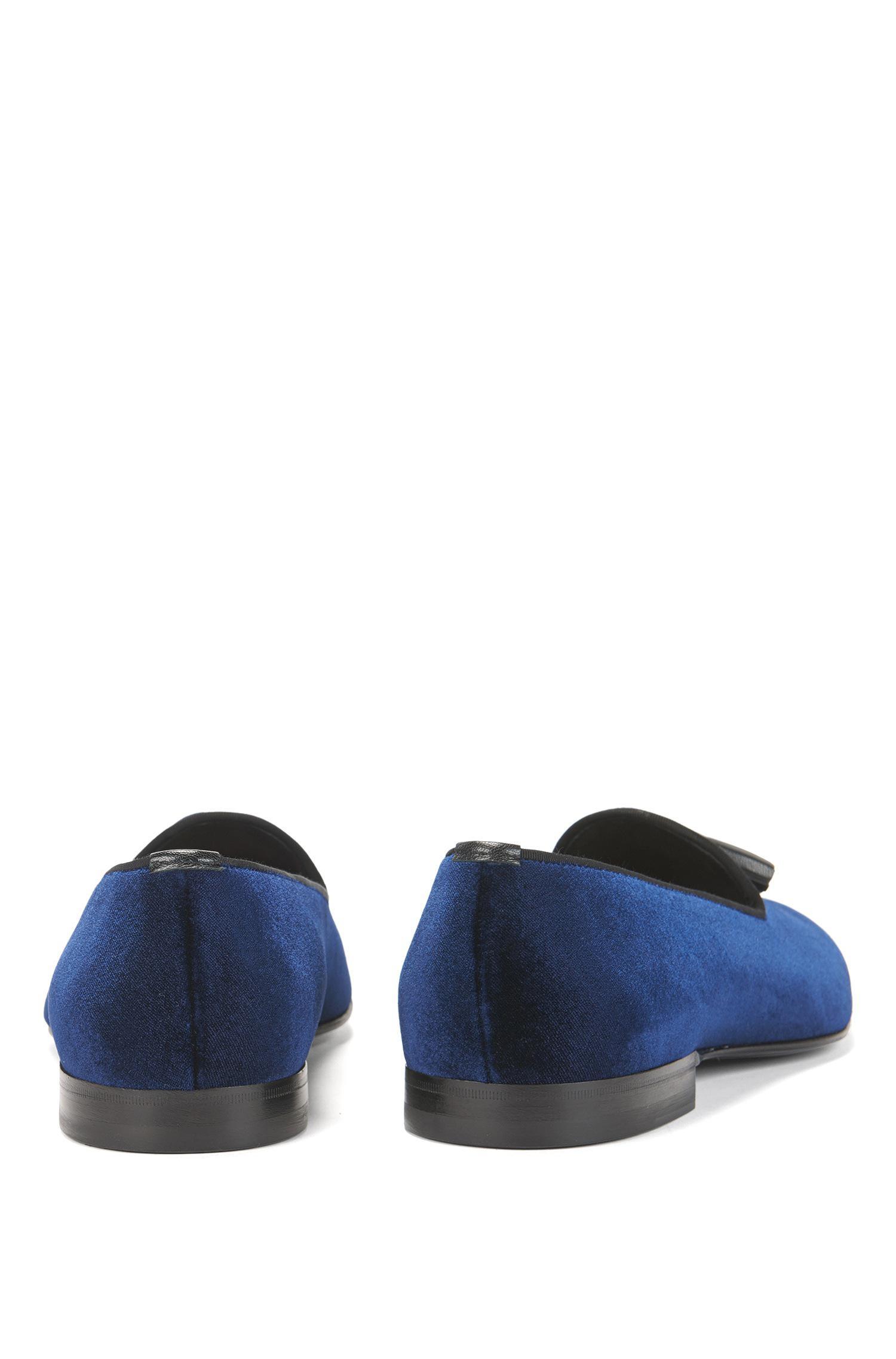 900a075cd63 Lyst - BOSS Italian Velvet Penny Loafer
