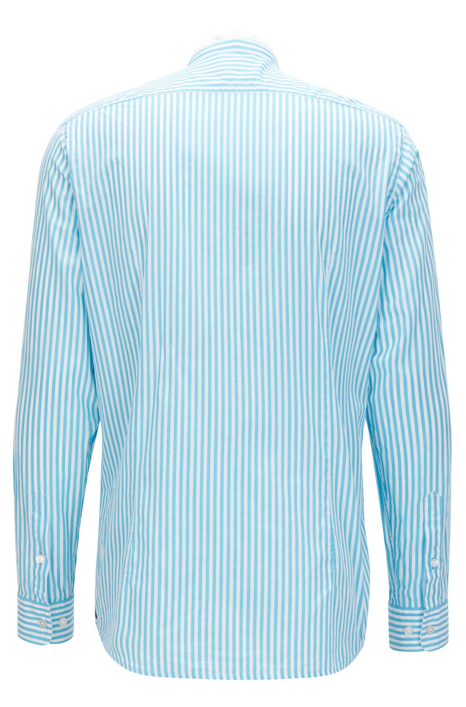 Outlet Store Sale Online Regular-fit shirt in geometric-print cotton poplin BOSS Outlet Hot Sale Cheap Sale Explore tzJEmw