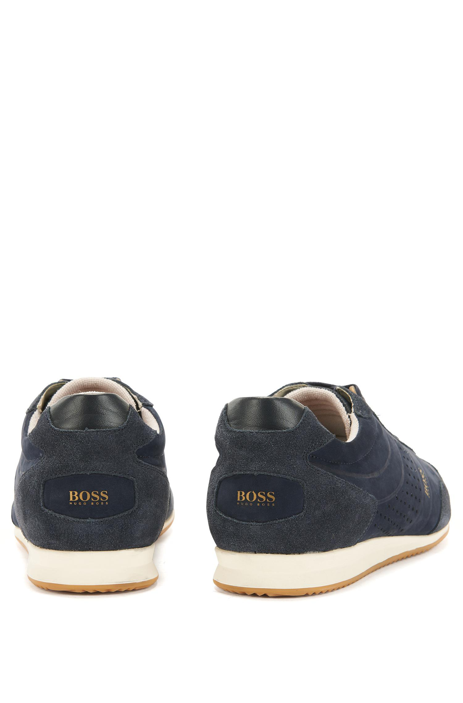 Low-top trainers in leather and suede BOSS CtXVYW