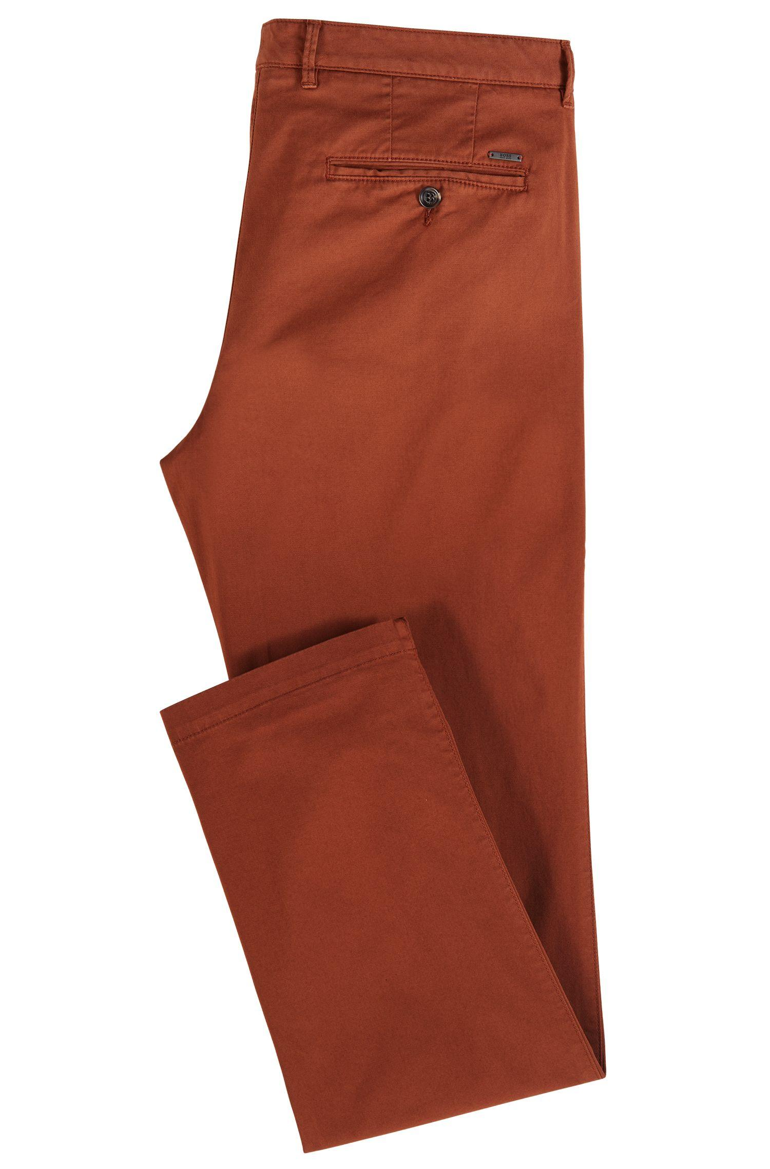 da79c2b5c9 BOSS Regular-fit Chinos In Stretch Cotton Gabardine in Brown for Men ...