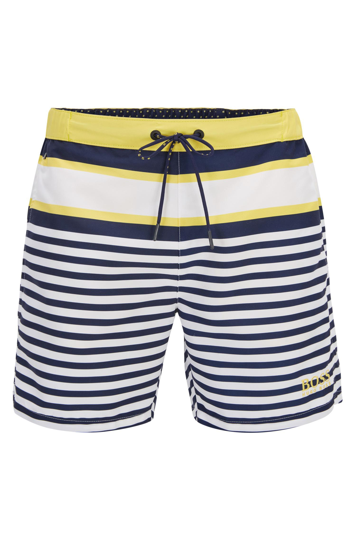47d04fe60 BOSS Striped Quick Dry Swim Trunk | Bannerfish in Blue for Men - Lyst