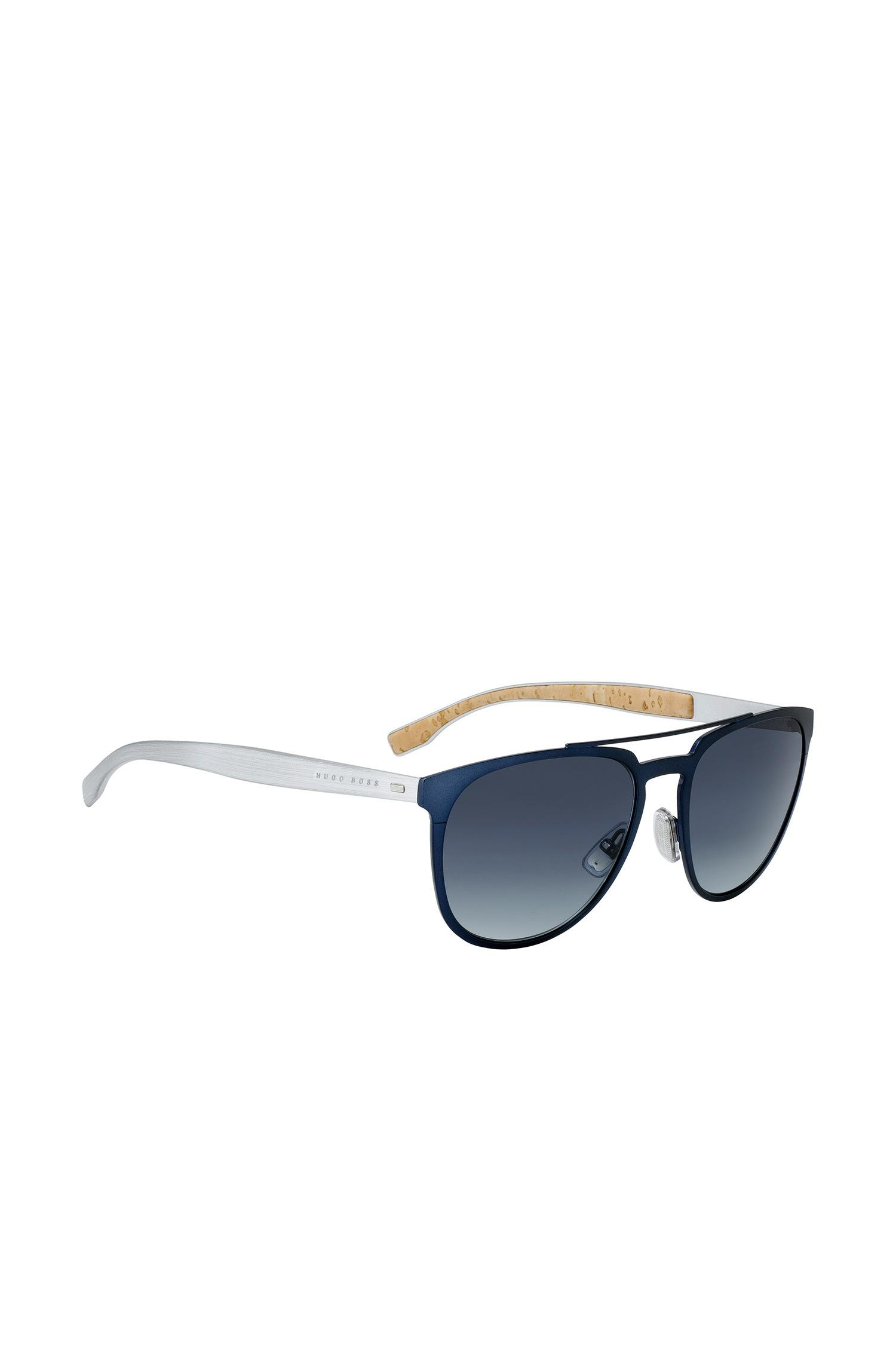 a74fd397ae4 Boss Aviator Sunglasses With Thin Blue Metallic Frames in Blue for ...