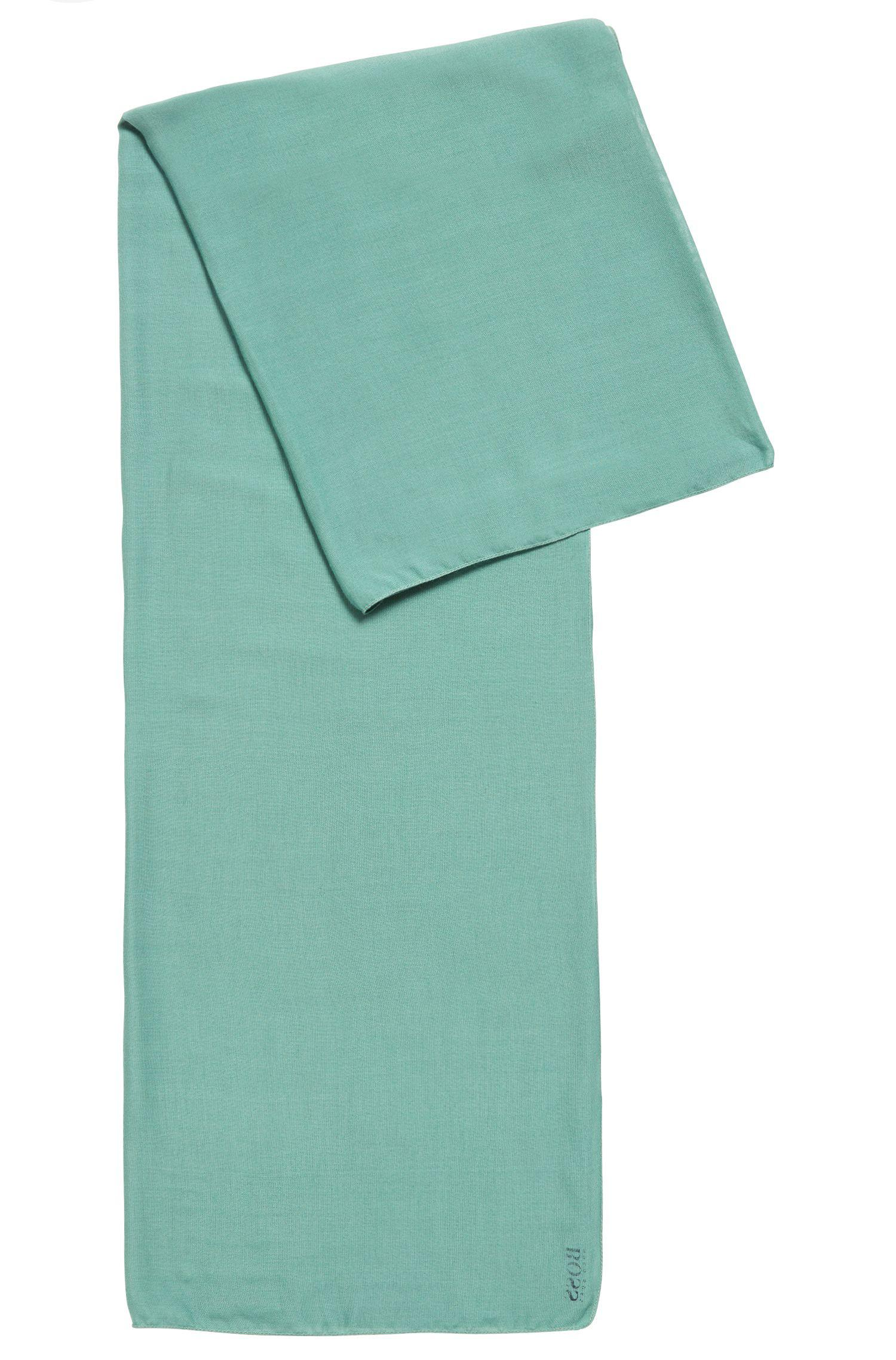 BOSS Super-soft Scarf With Printed Logo in Green - Lyst a554ef3a087