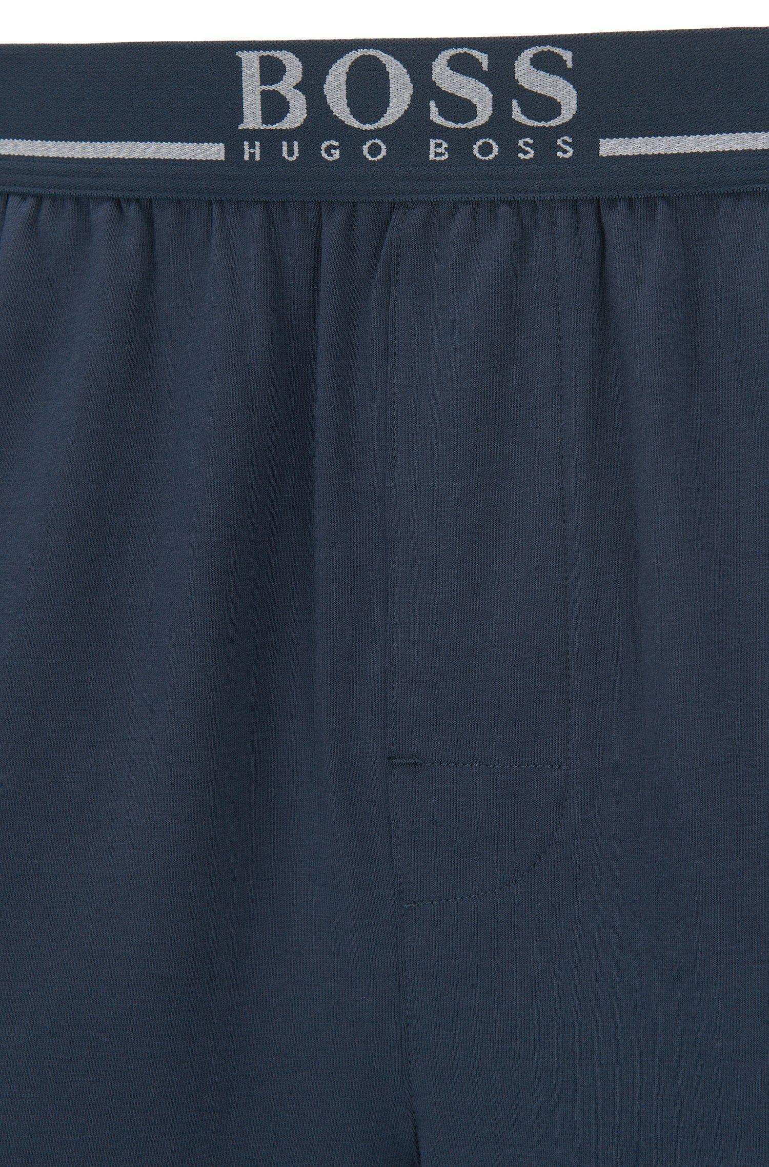 437a7e00 BOSS - Blue Loungewear Shorts In Stretch Cotton for Men - Lyst. View  fullscreen