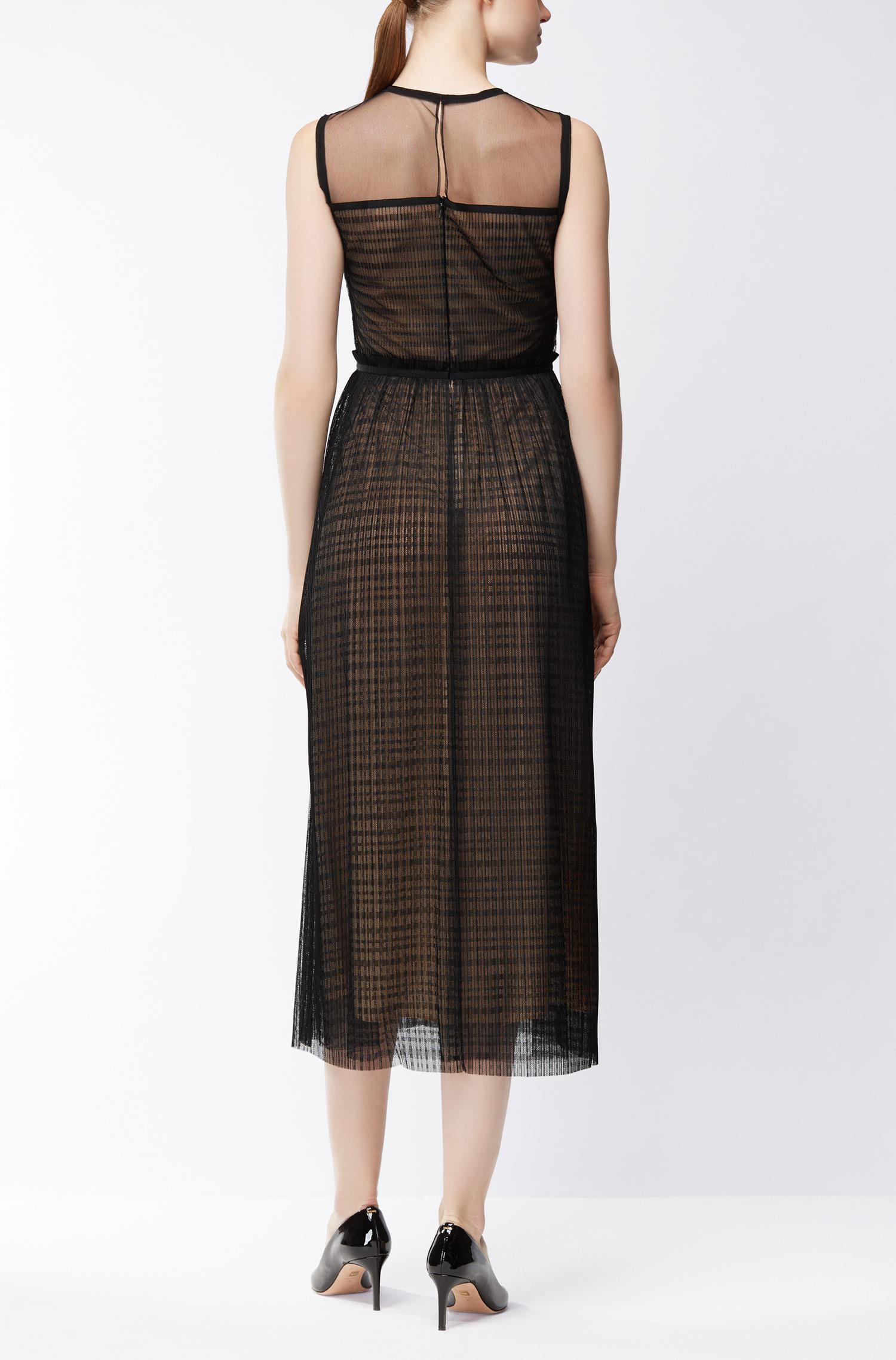 Sleeveless dress in layered tulle BOSS UBkixe