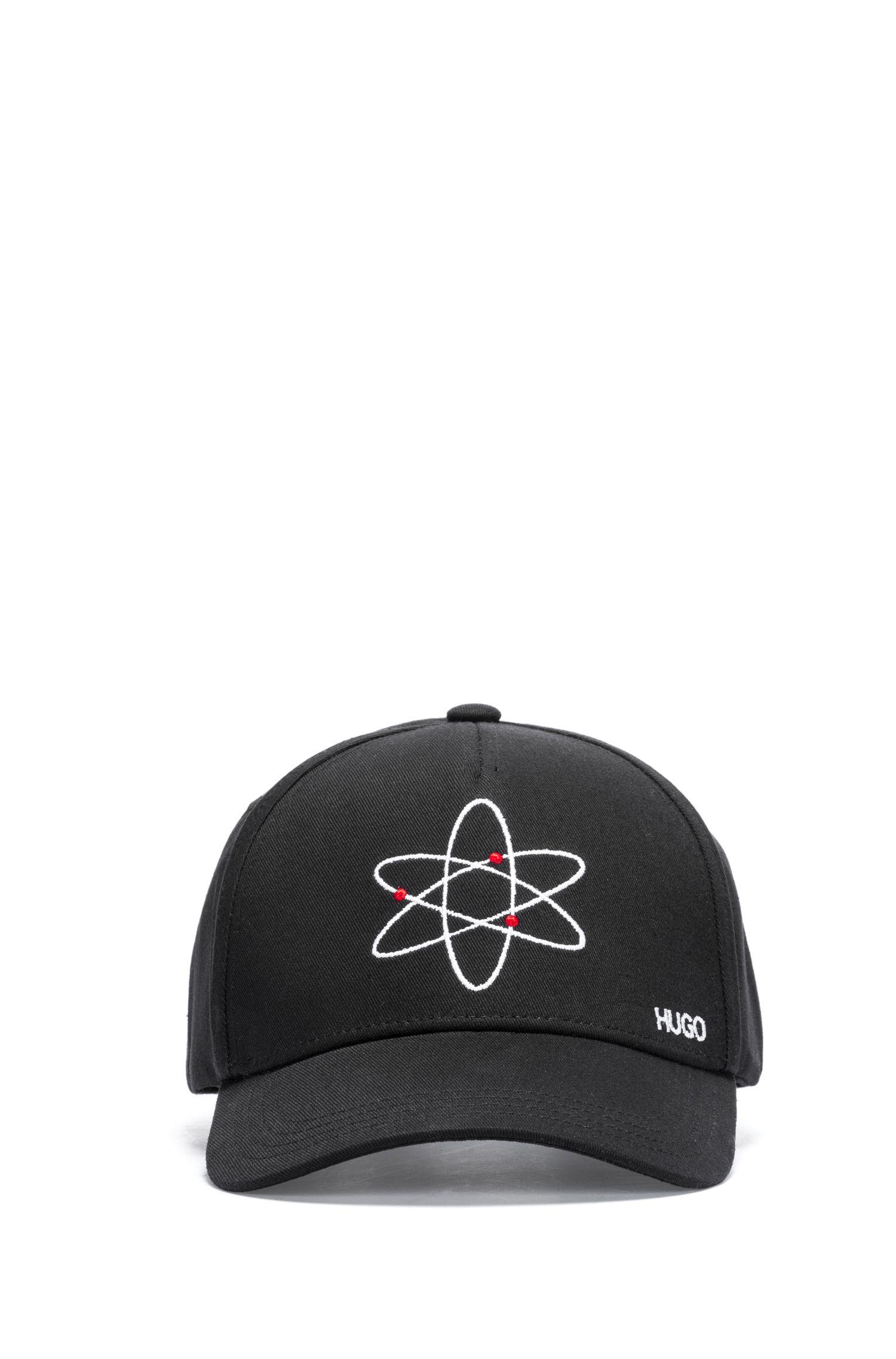 df316b4c1bd HUGO Cotton Cap With Atom Embroidery in Black for Men - Lyst