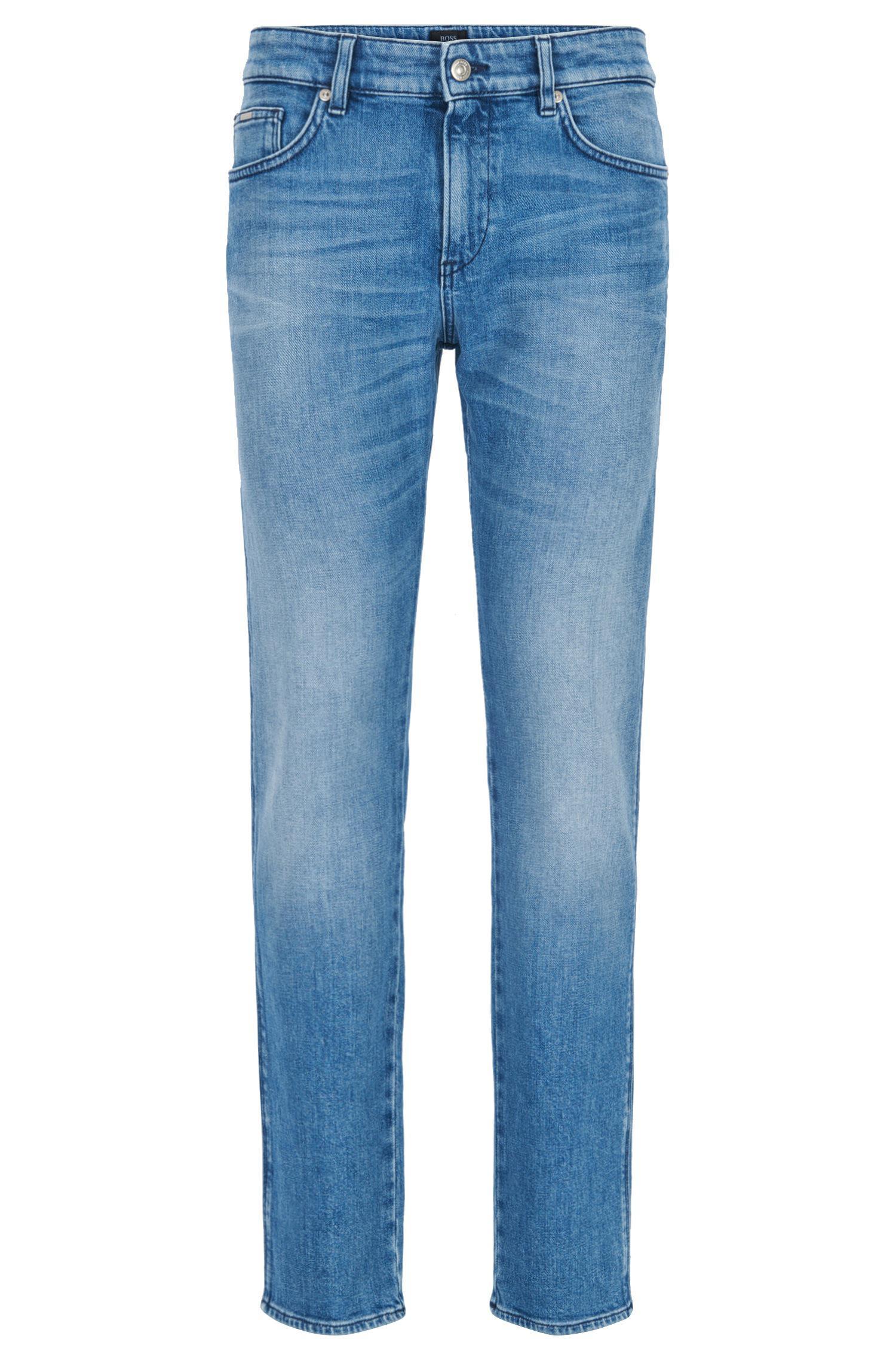 Slim-fit jeans in stretch ripstop denim BOSS EX5Qr