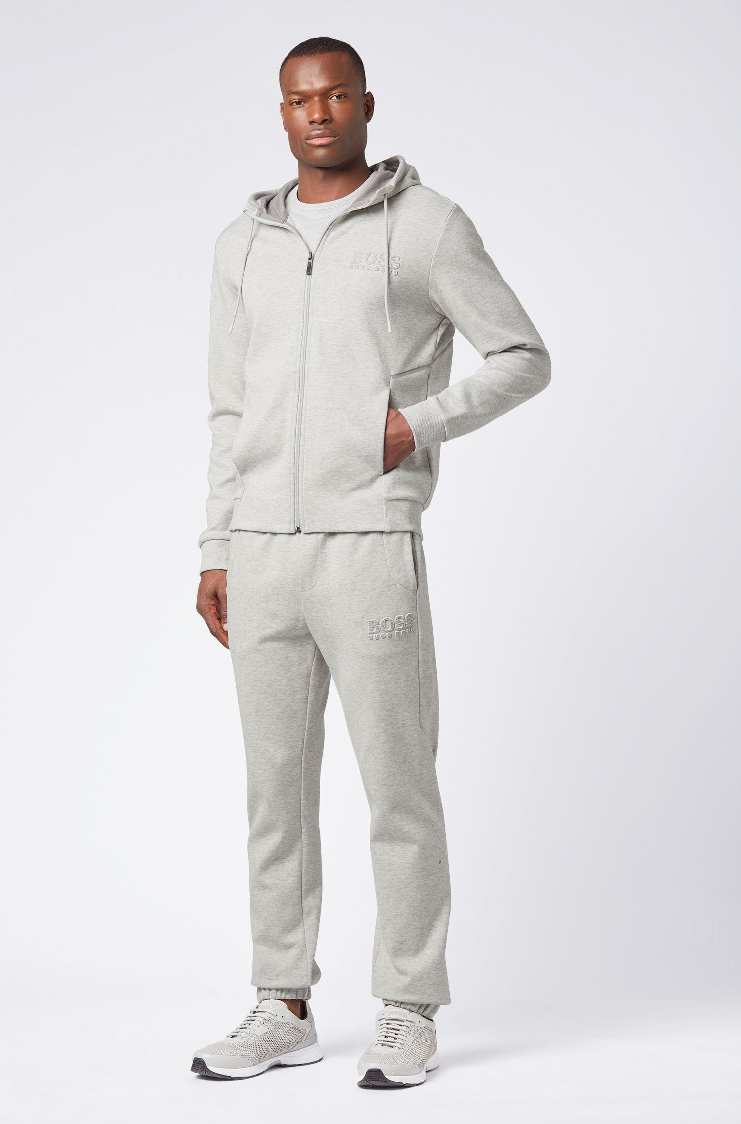 2c995a673 BOSS Slim-fit Tracksuit Bottoms With Reflective Detailing in Gray ...
