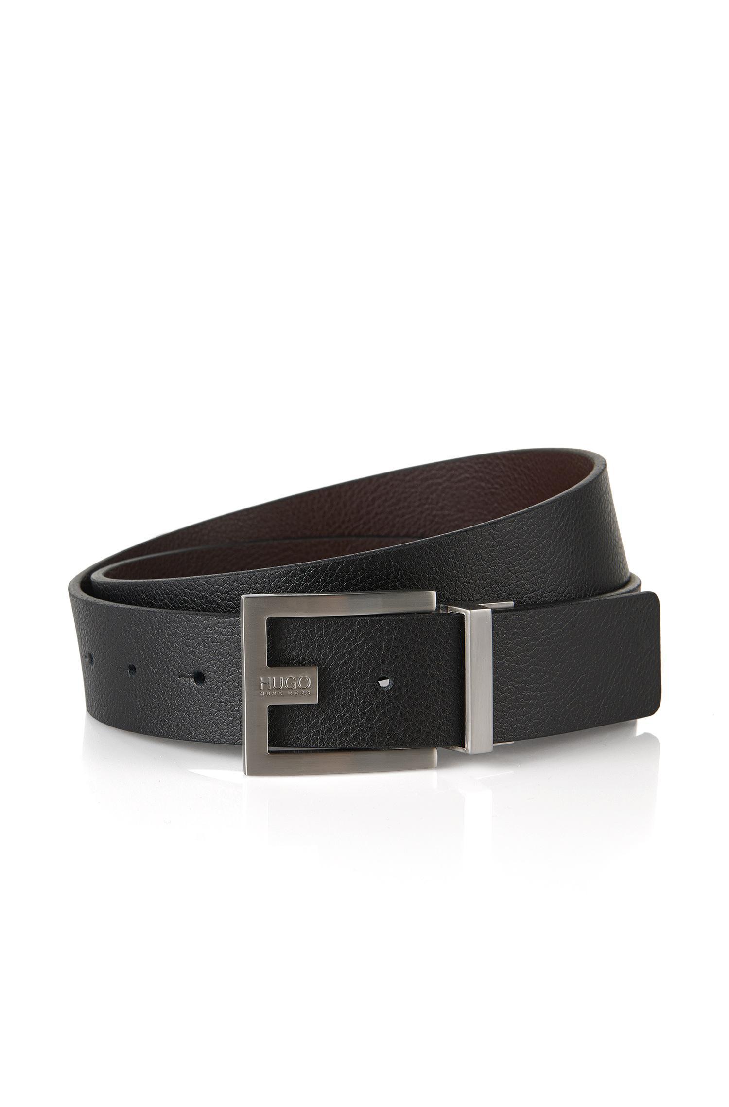 534ac0960006 Lyst - Hugo Reversible Belt In Grained Leather   c-fleming  in Black ...