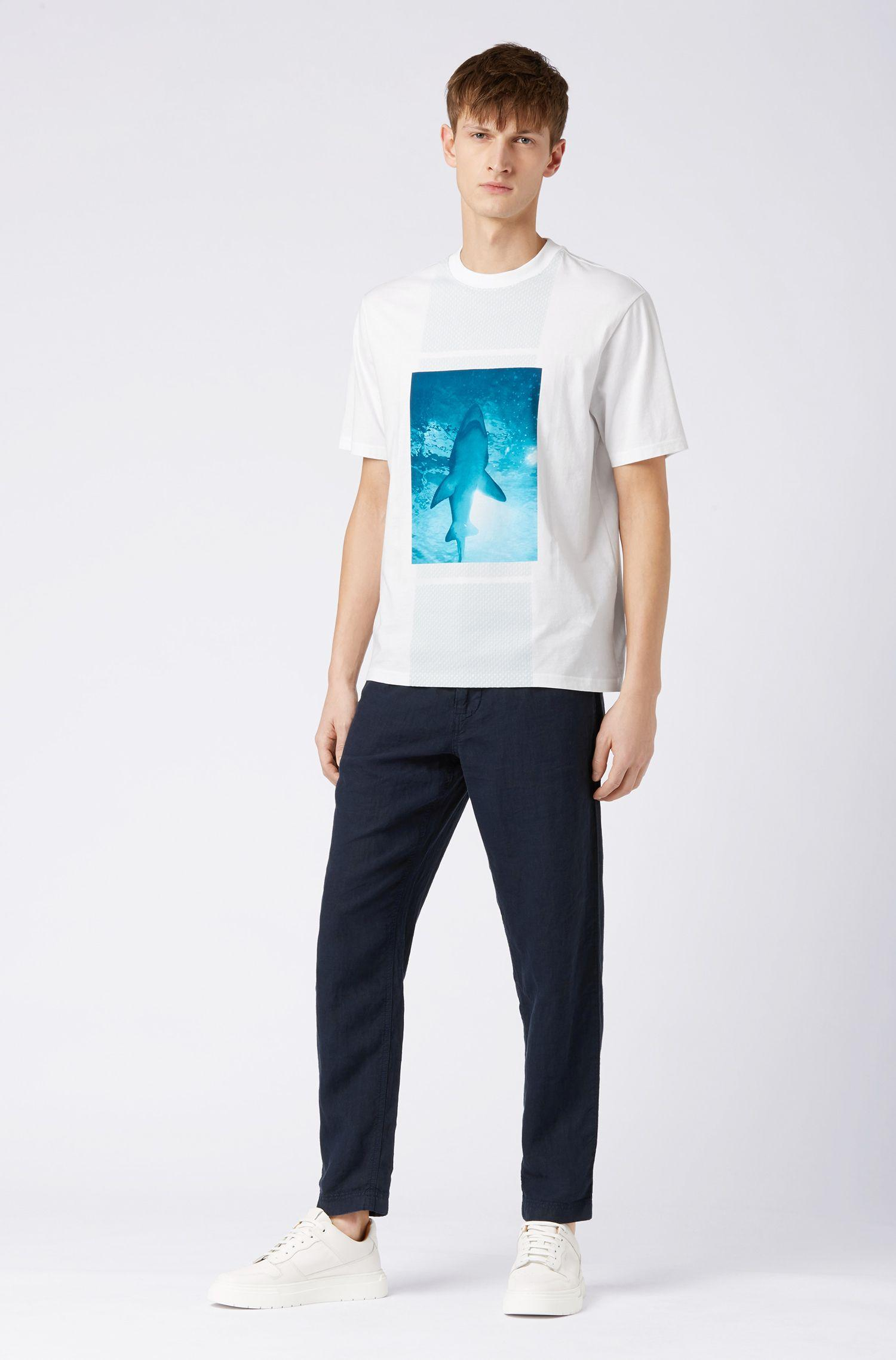 7ce2a478b BOSS - White Relaxed-fit T-shirt In Cotton Jersey With 3d Effects for. View  fullscreen