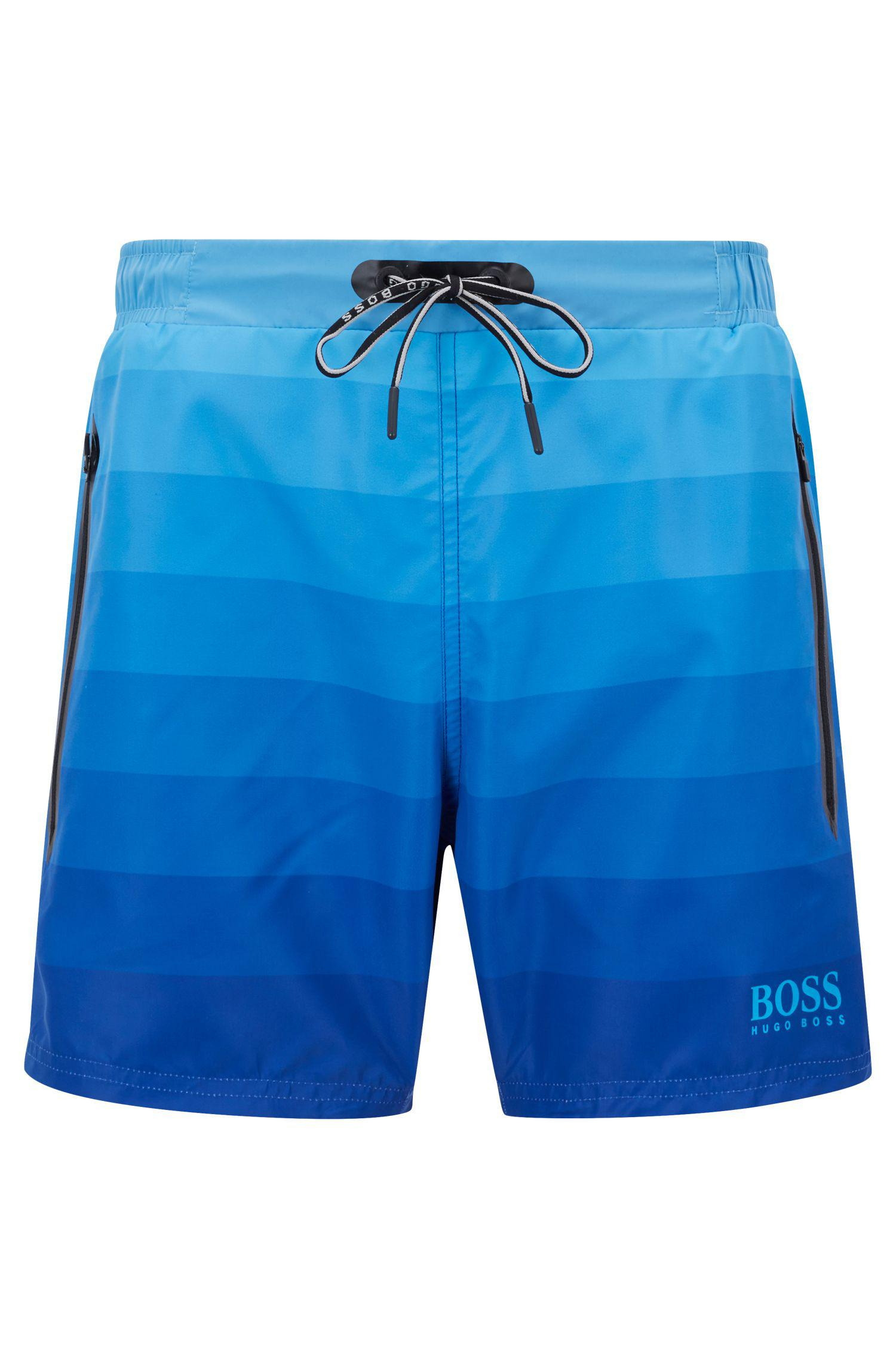 4766142bb0728 BOSS Quick-dry Swim Shorts With Dégradé Print And Zipped Pockets in ...