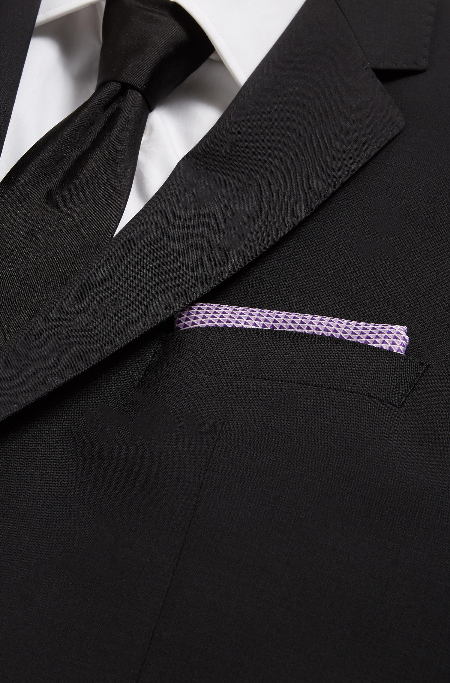 Jacquard pocket square in pure silk BOSS 70iUziyU