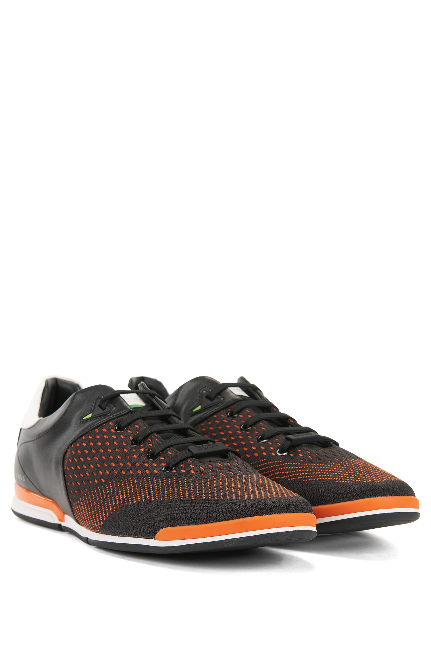 Low-profile trainers with jacquard-knit uppers BOSS P3gENq1RVM