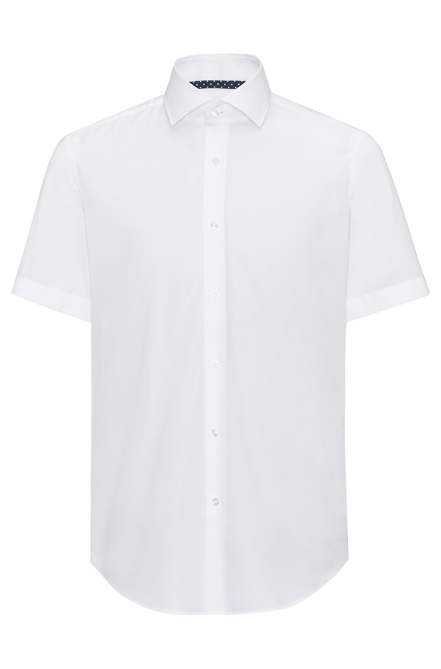Easy Iron 25 Mg: HUGO Regular-fit Short-sleeved Shirt In Easy-iron Cotton